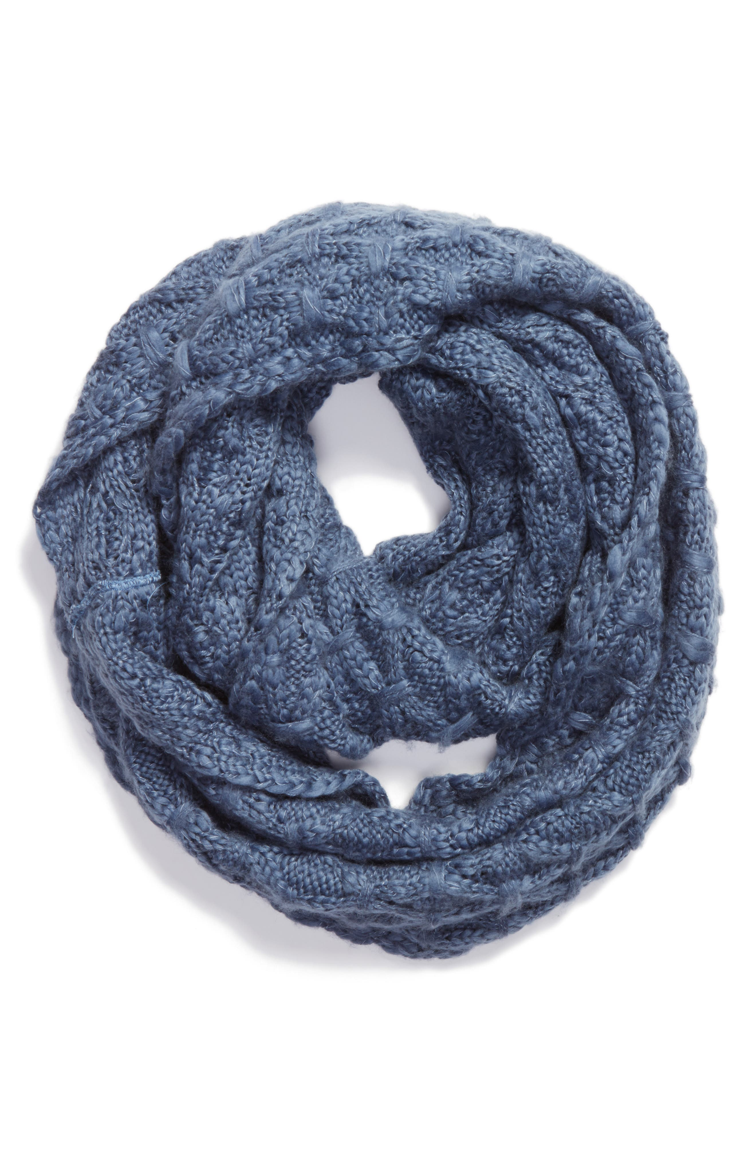 Solid Chunky Knit Infinity Scarf,                             Alternate thumbnail 8, color,