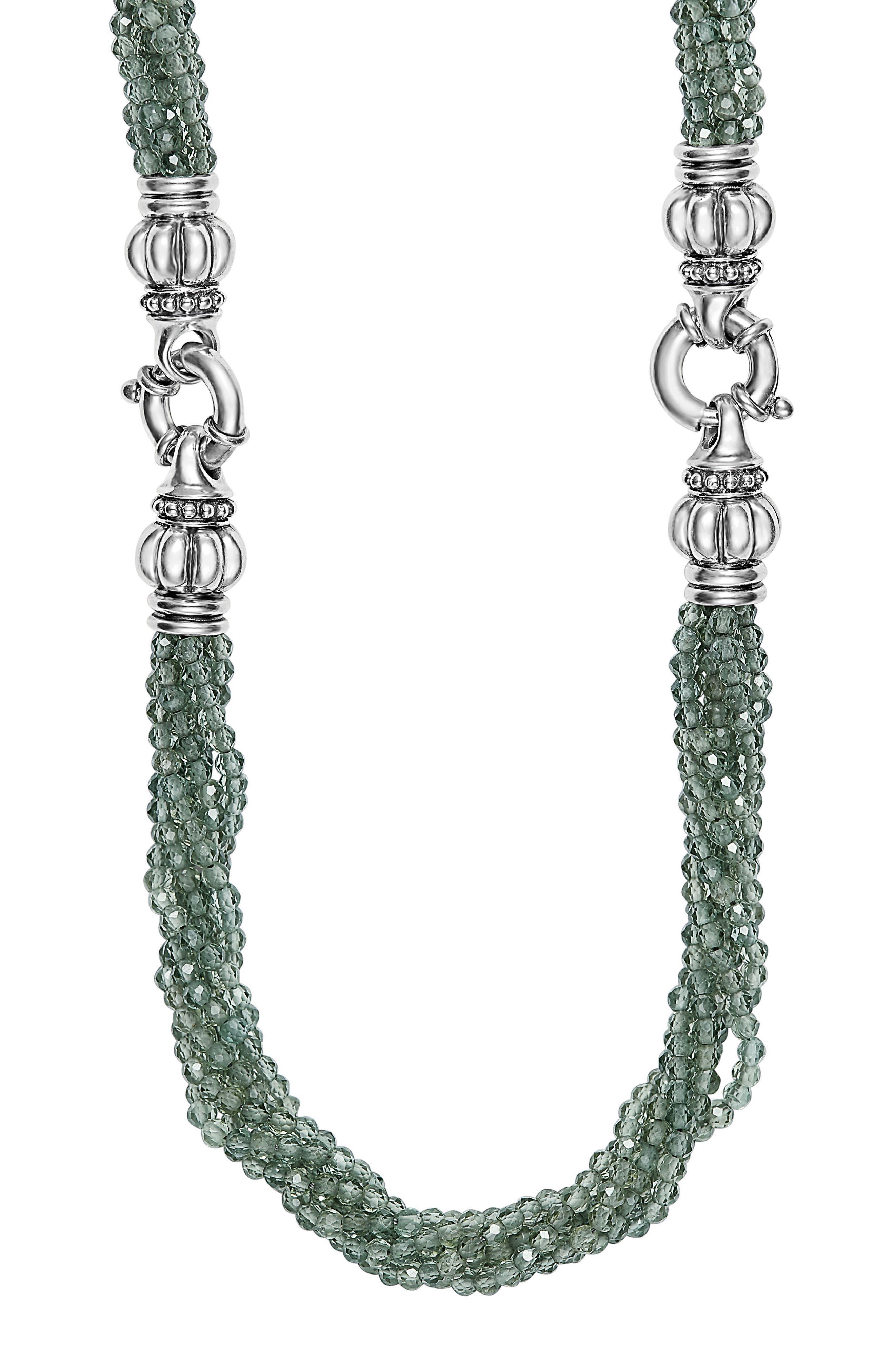 Caviar Icon Bead Convertible Bracelet & Necklace,                         Main,                         color, 040