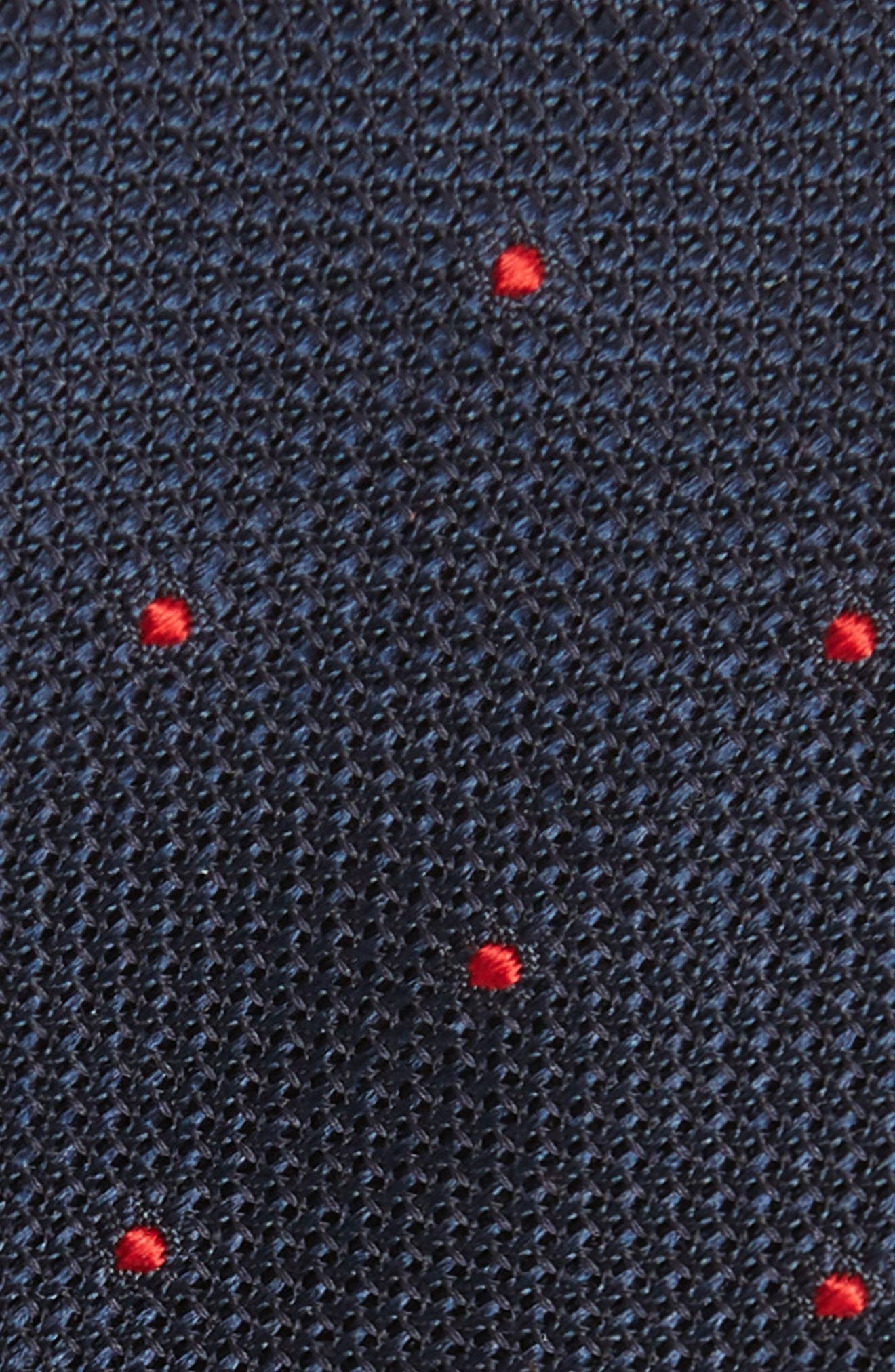 Dot Silk Skinny Tie,                             Alternate thumbnail 2, color,                             NAVY/ RED