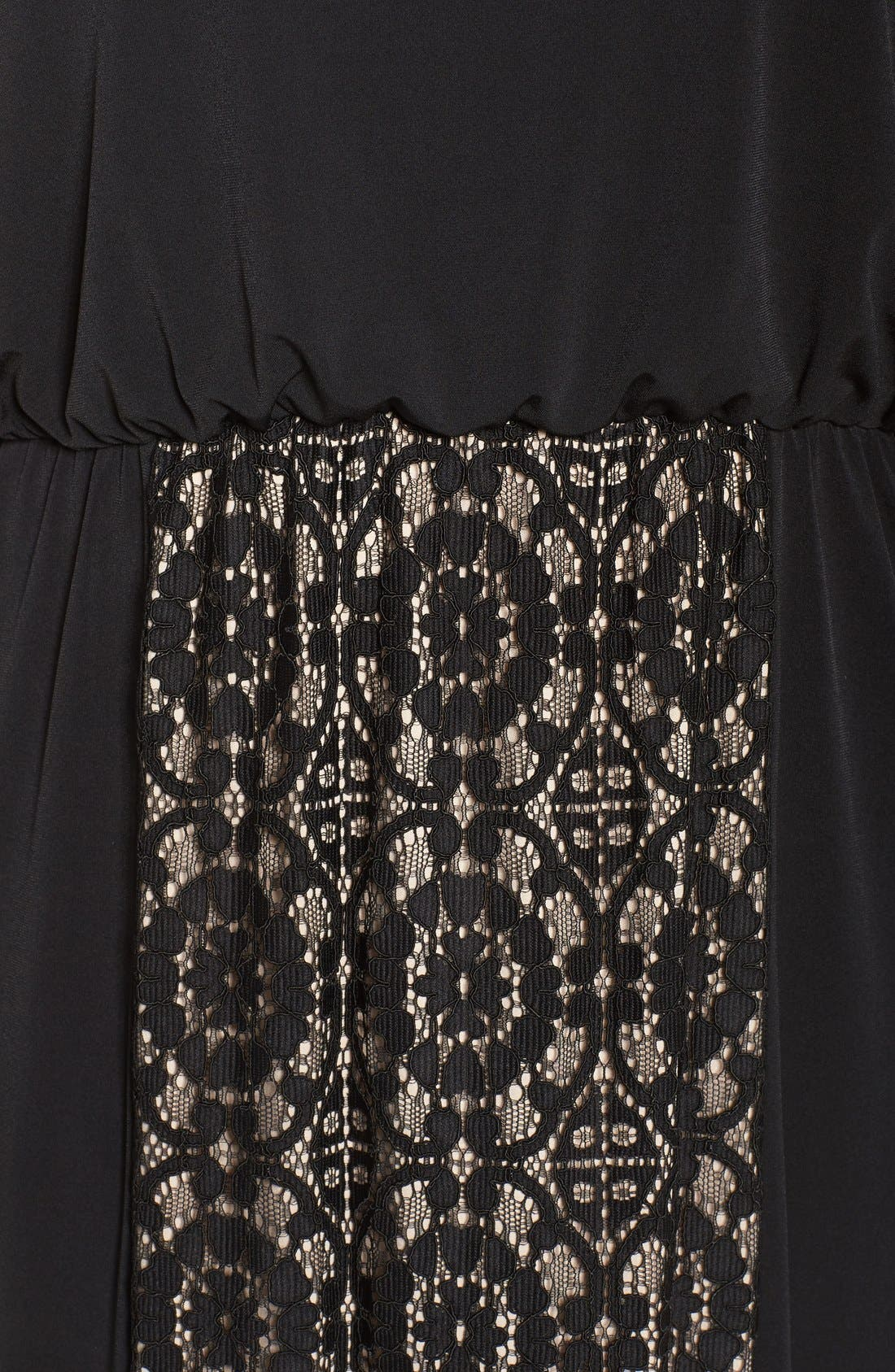 Lace Panel Gown,                             Alternate thumbnail 5, color,                             002