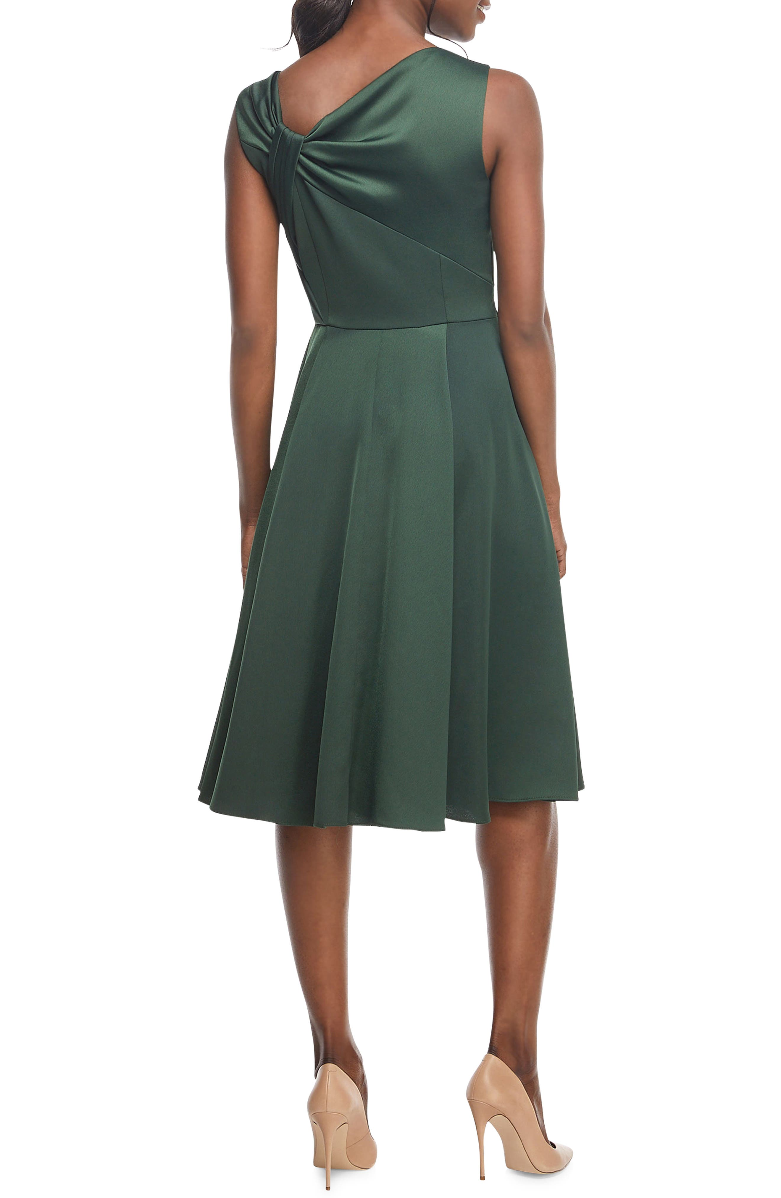Noelle Twist Neck Satin Dress,                             Alternate thumbnail 2, color,                             306