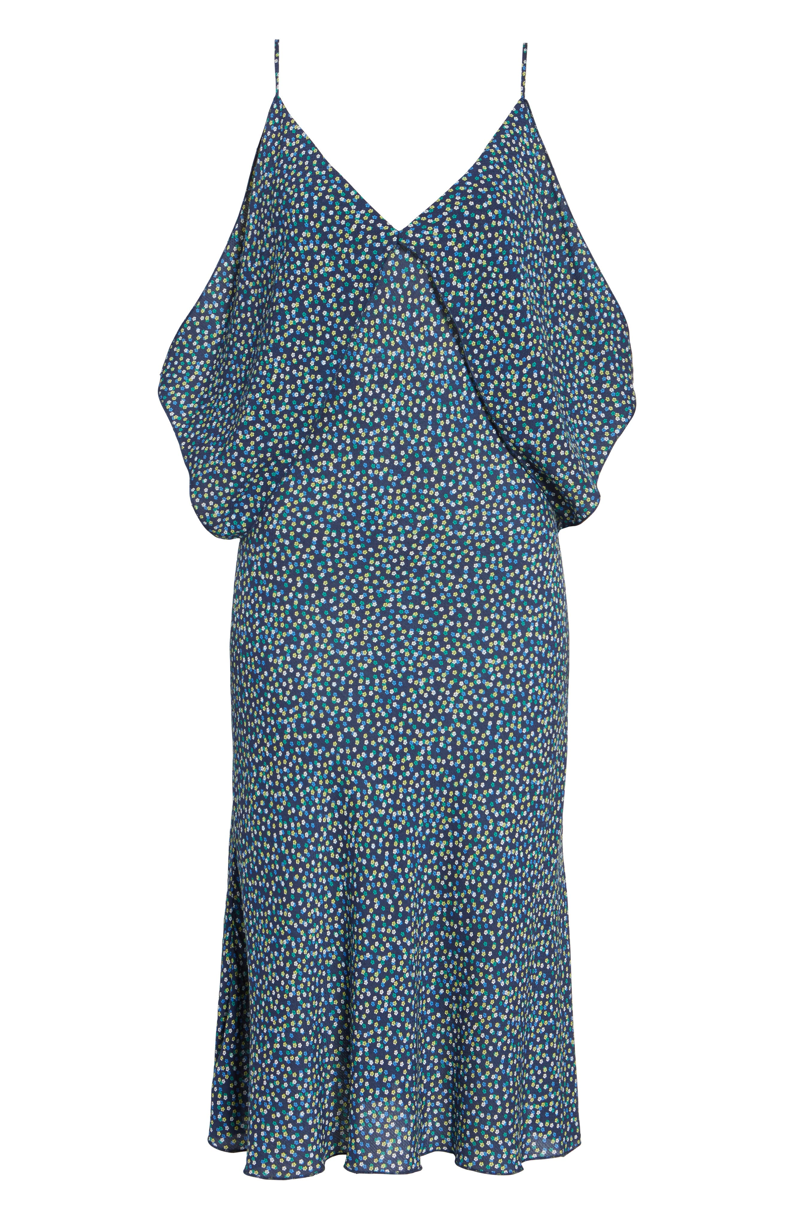 Bodacious Floral Midi Dress,                             Alternate thumbnail 6, color,                             461