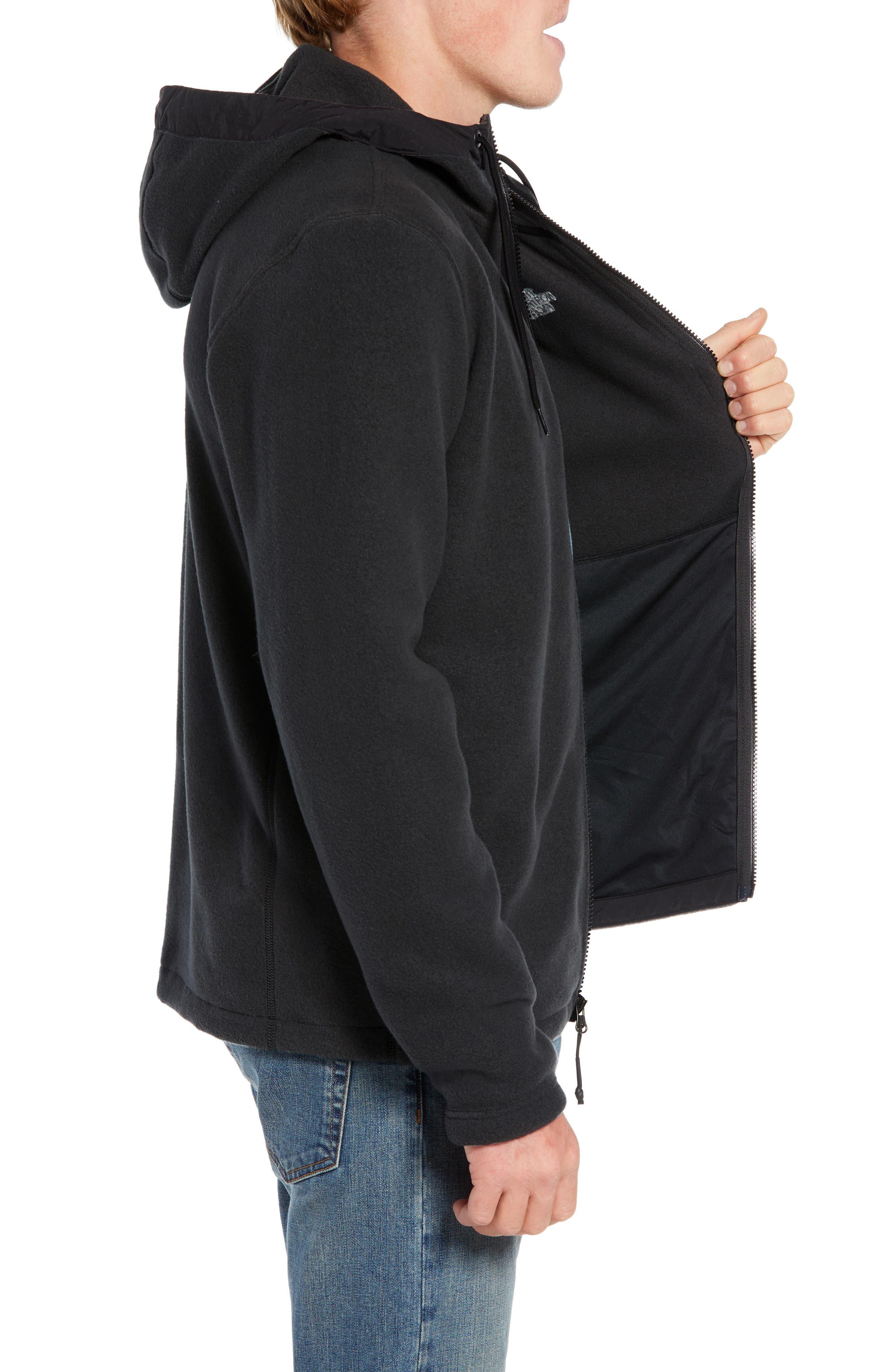 Pyrite Sweater Knit Fleece Hoodie,                             Alternate thumbnail 3, color,                             TNF BLACK