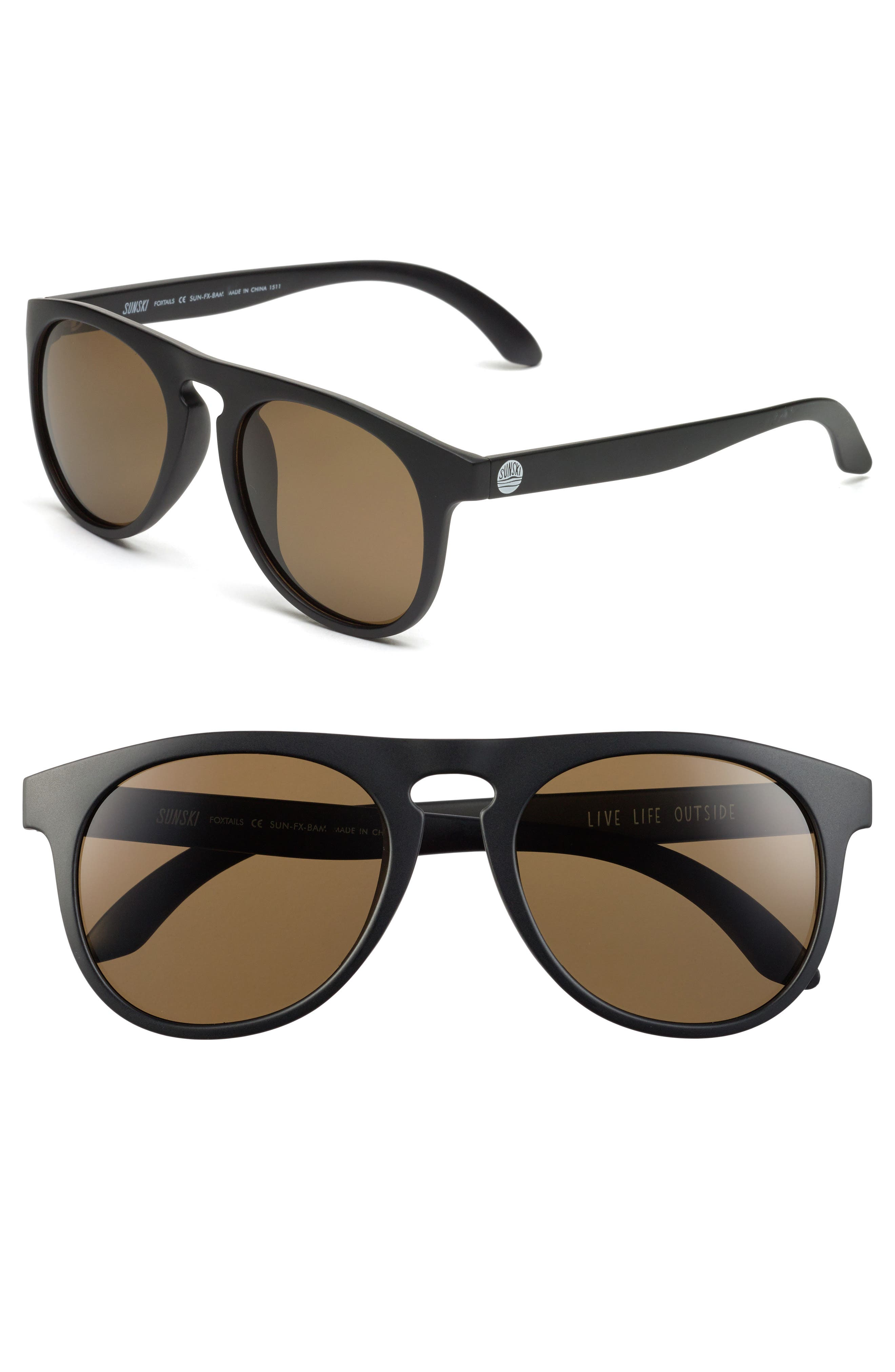 Foxtail 51mm Polarized Sunglasses,                             Main thumbnail 1, color,