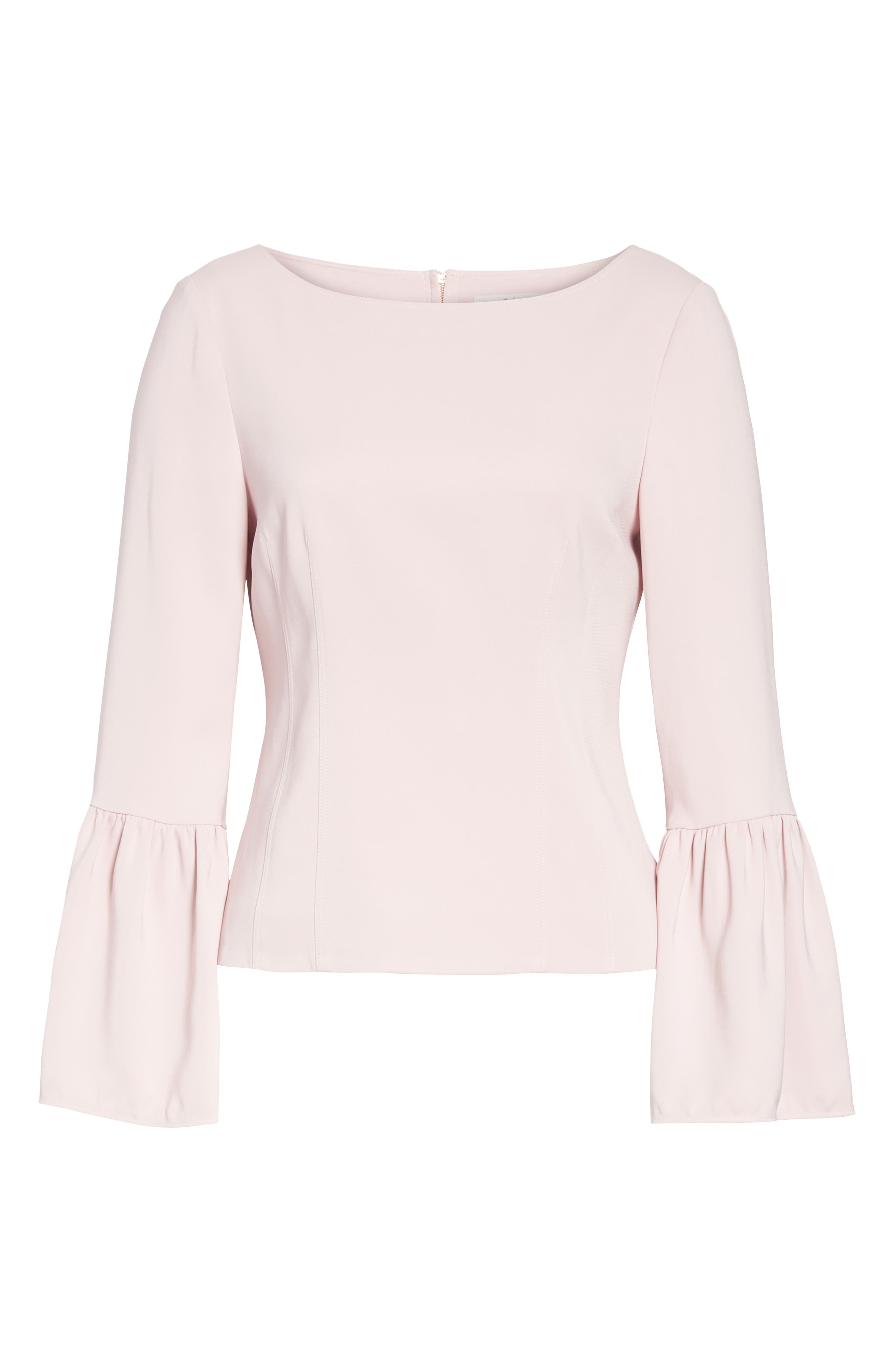 Stretch Suiting Bell Sleeve Top,                             Alternate thumbnail 6, color,                             PINK LILAC