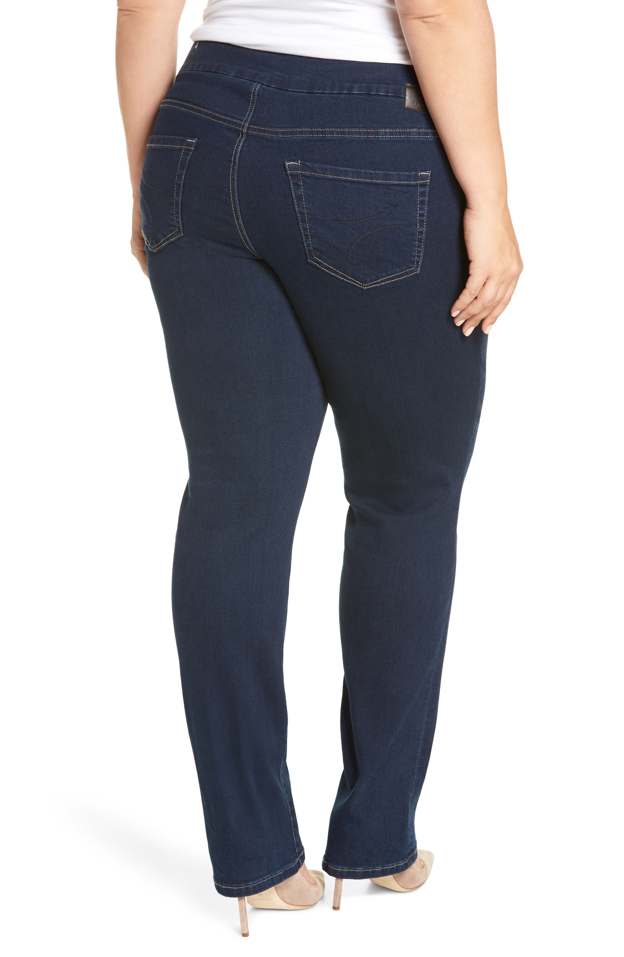 Paley Pull-On Bootcut Jeans,                             Alternate thumbnail 2, color,                             MED INDIGO