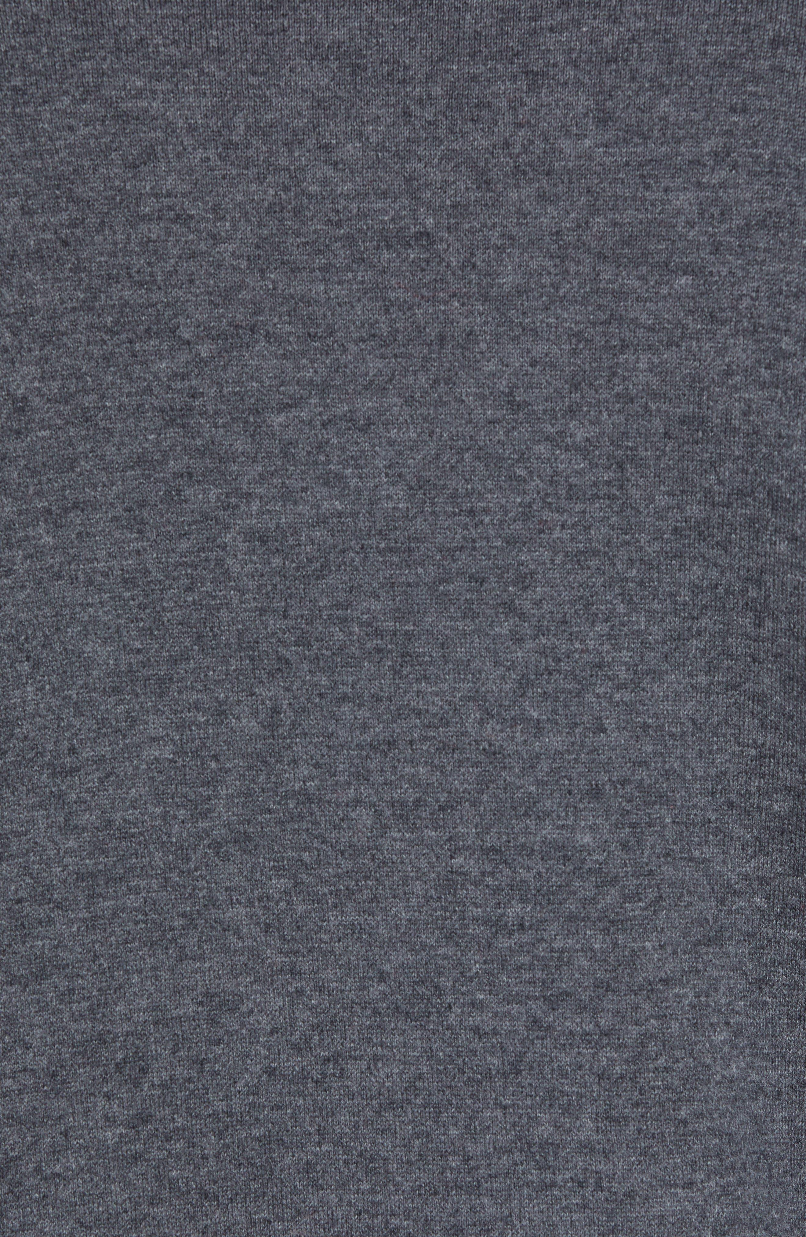 Cotton Blend Zip Cardigan,                             Alternate thumbnail 5, color,                             GREY