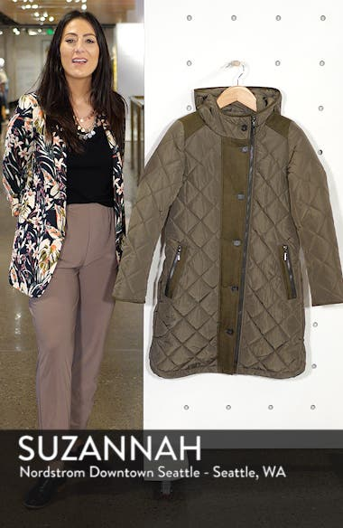 Button Side Quilted Jacket, sales video thumbnail