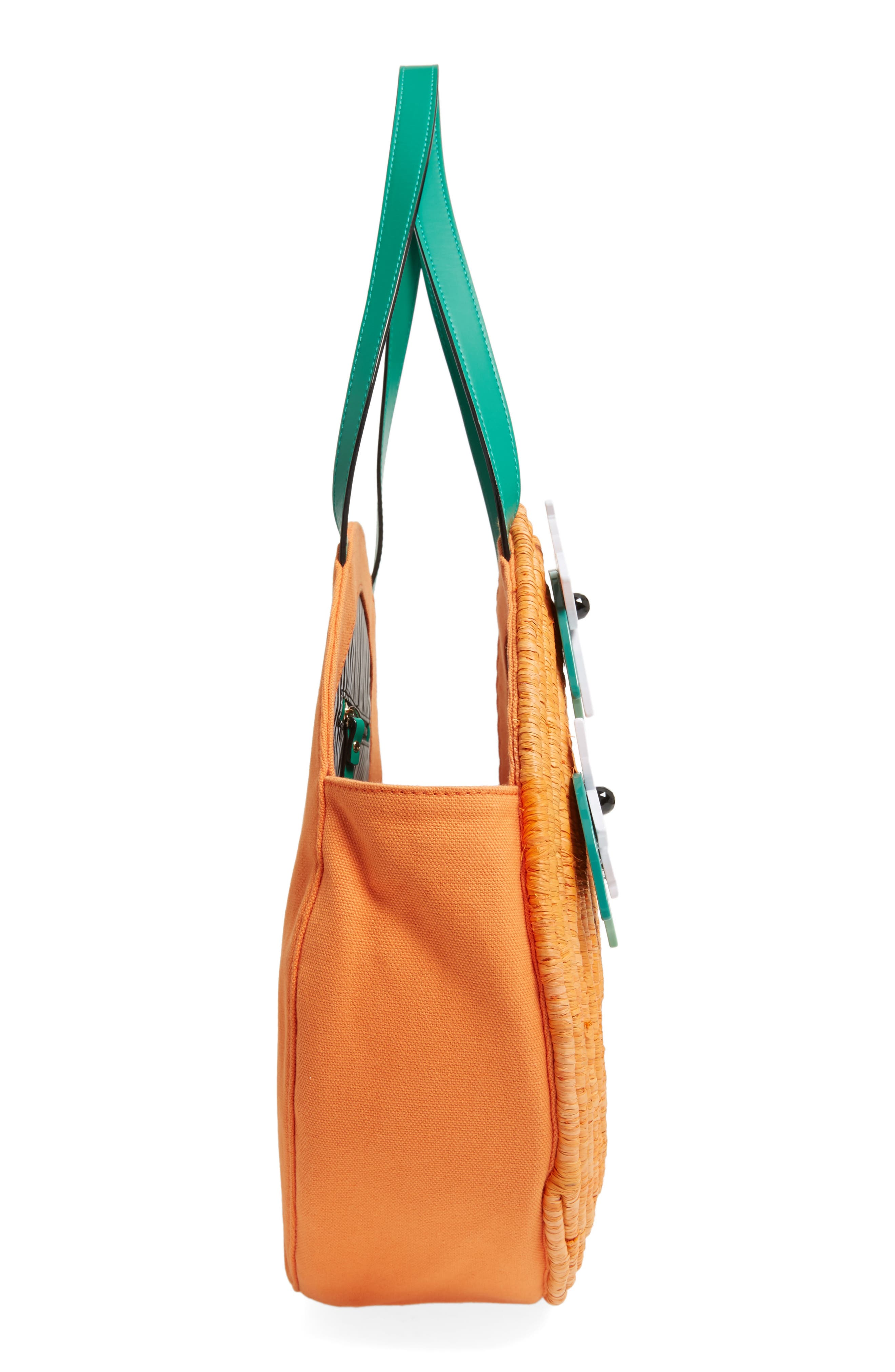 spice things up orange tote,                             Alternate thumbnail 5, color,                             800