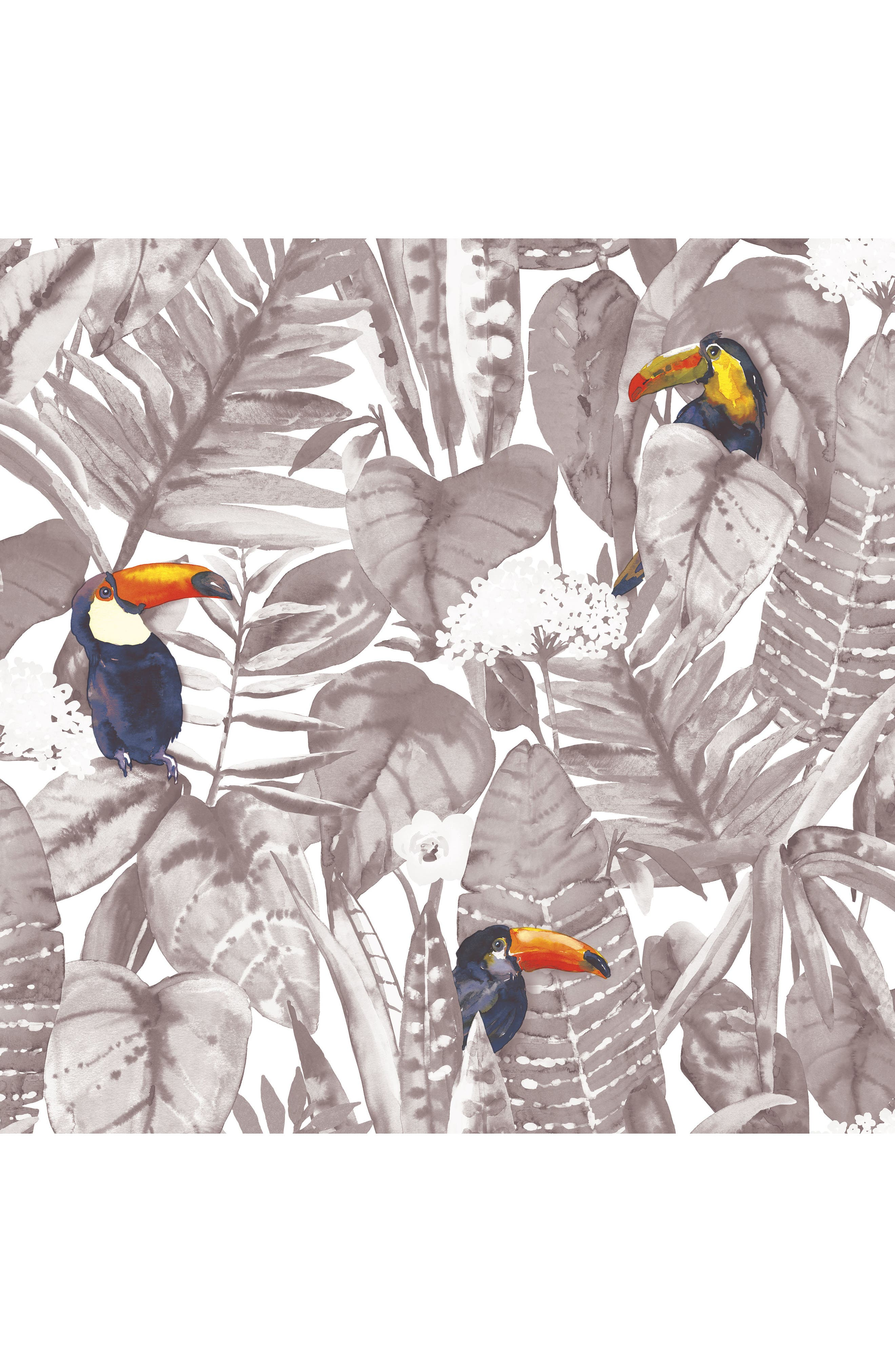 Toucan Self-Adhesive Vinyl Wallpaper,                             Main thumbnail 1, color,                             020