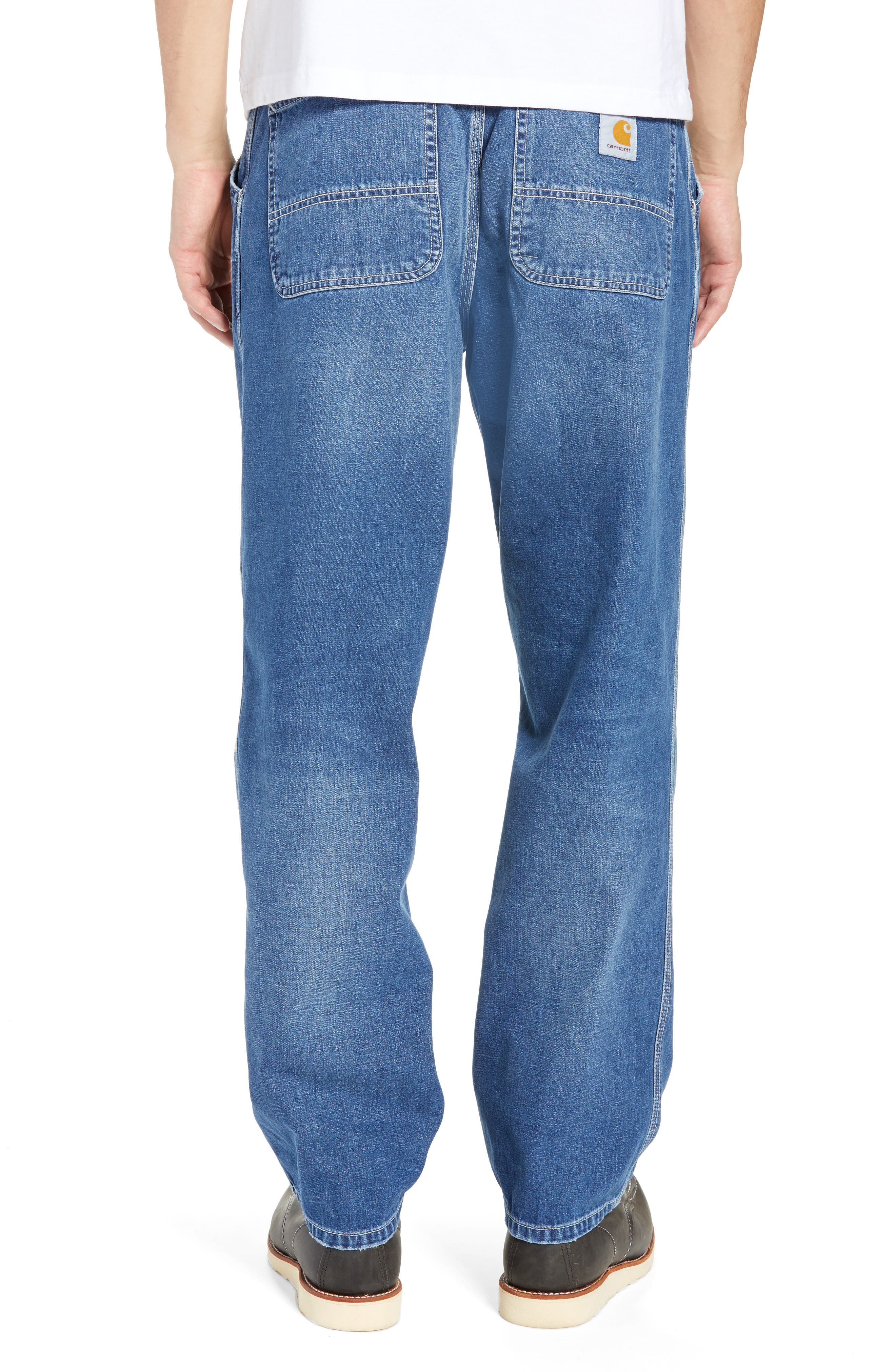 CARHARTT WORK IN PROGRESS,                             Simple Denim Jeans,                             Alternate thumbnail 2, color,                             BLUE