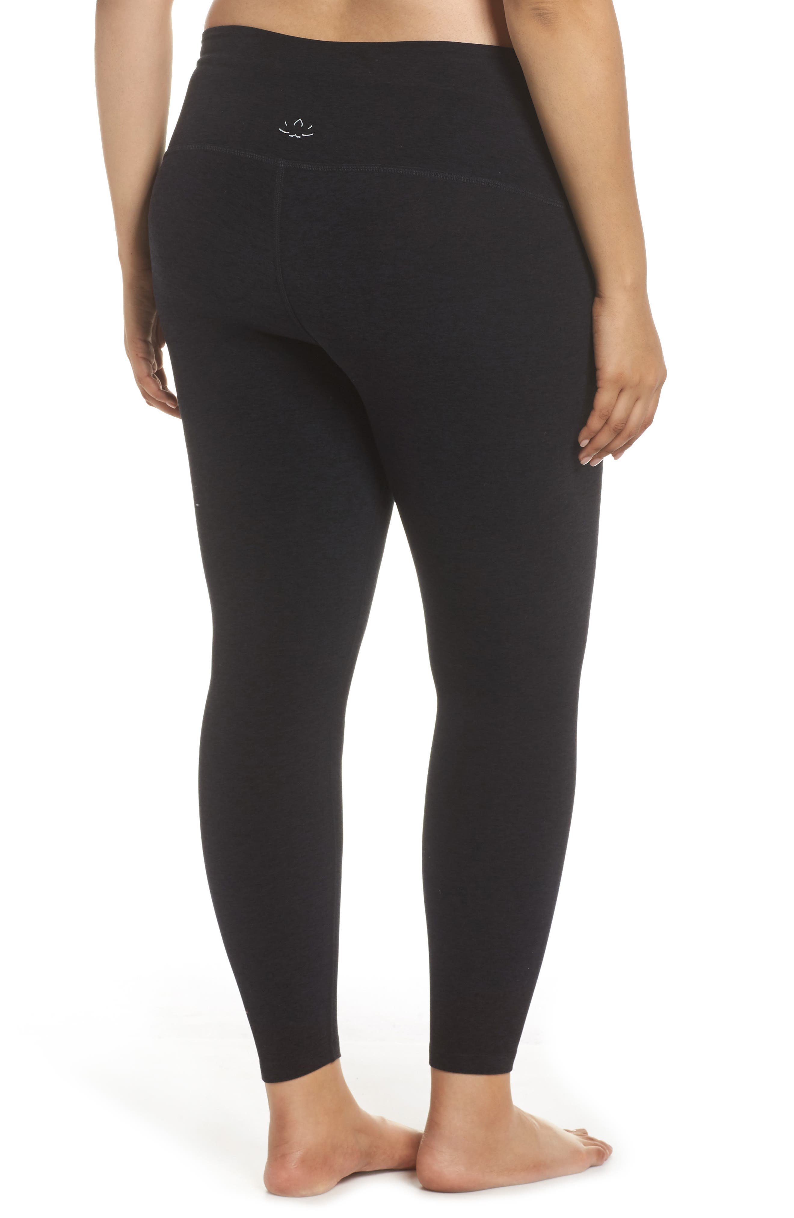 High Waist Midi Leggings,                             Alternate thumbnail 2, color,                             DARKEST NIGHT