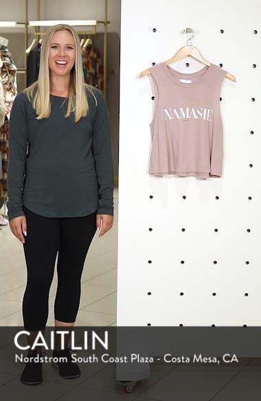 Namaste Cotton Blend Crop Tank Top, sales video thumbnail