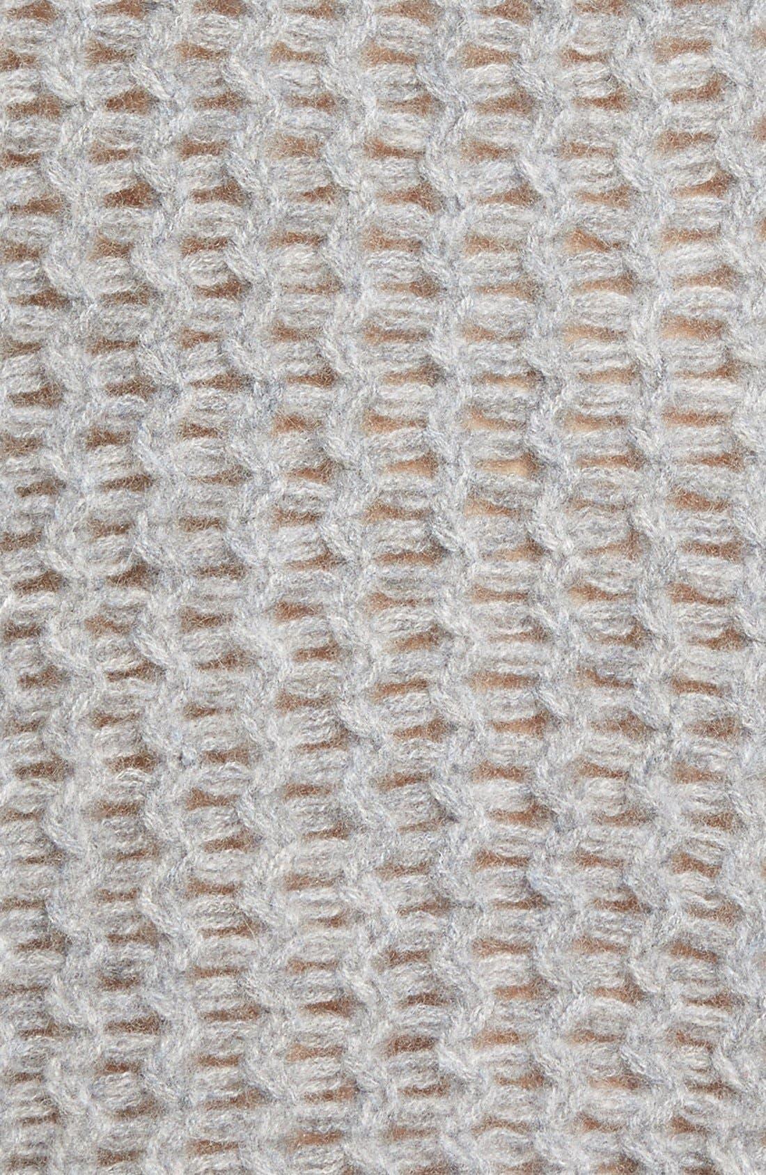 Stitch Detail Cashmere Mock Neck Sweater,                             Alternate thumbnail 6, color,                             030