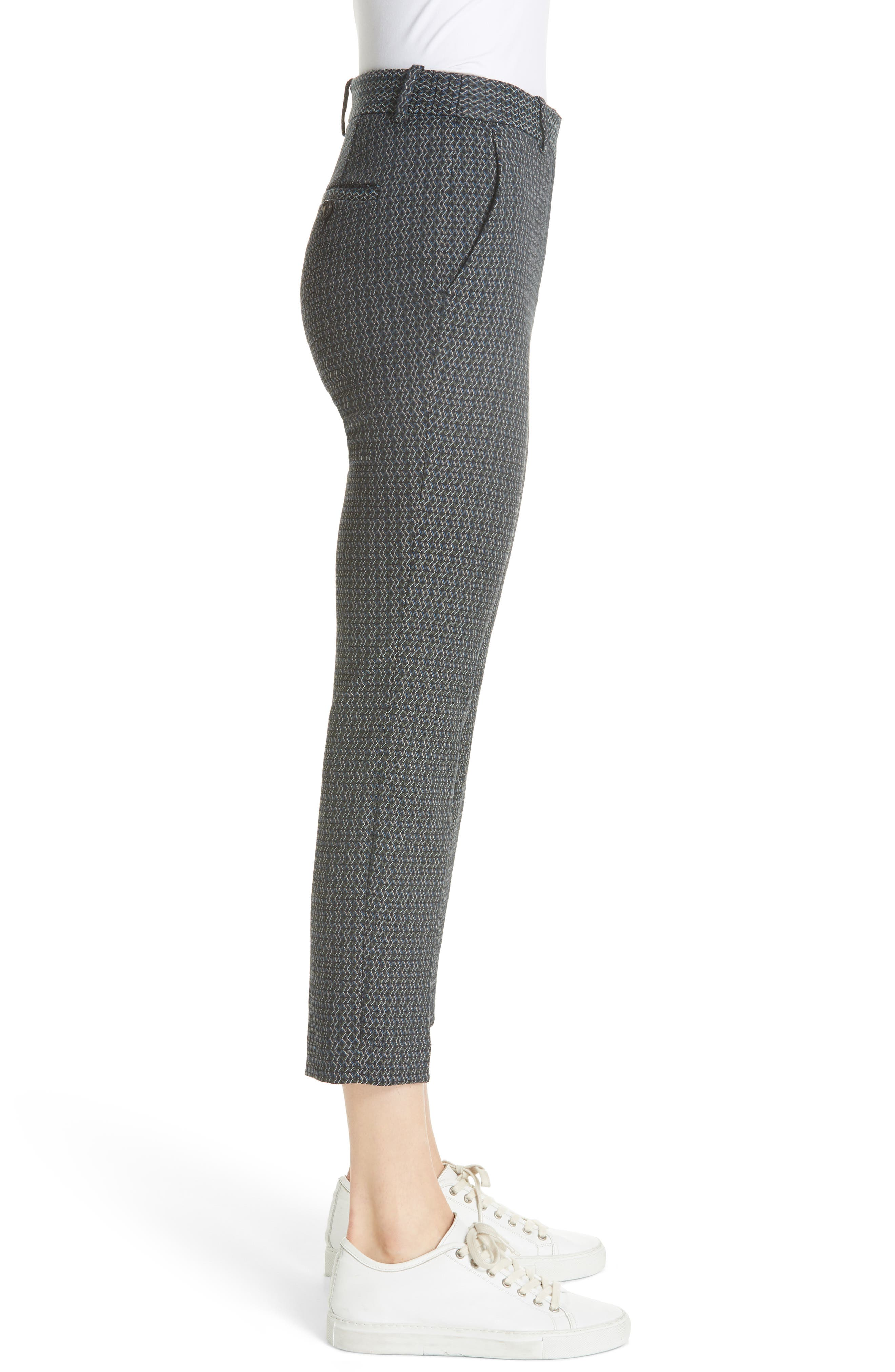 Treeca Shadow Jacquard Slim Crop Pants,                             Alternate thumbnail 3, color,                             MULTI
