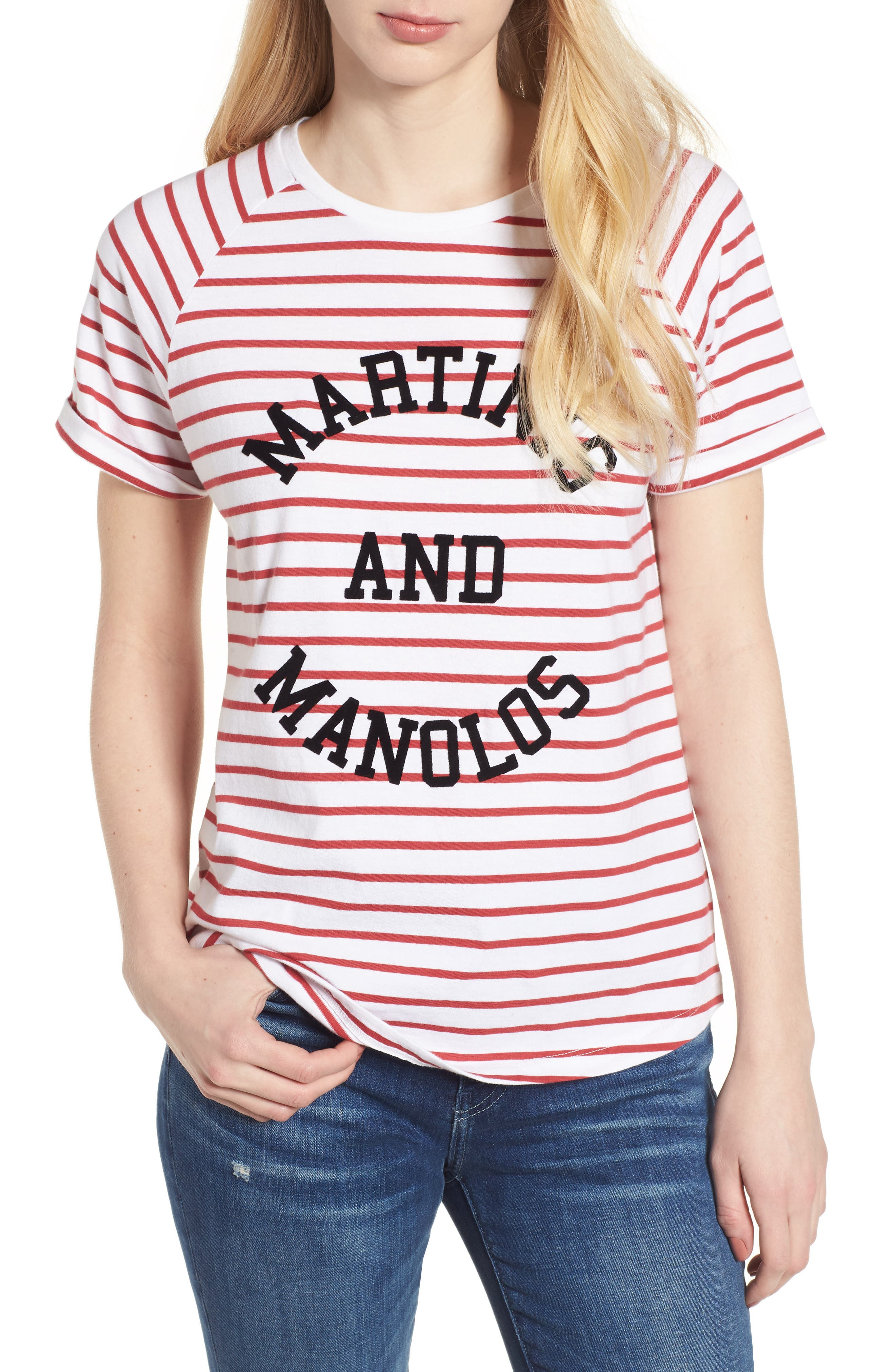 Jackie - Martinis & Manolos Tee,                             Main thumbnail 1, color,
