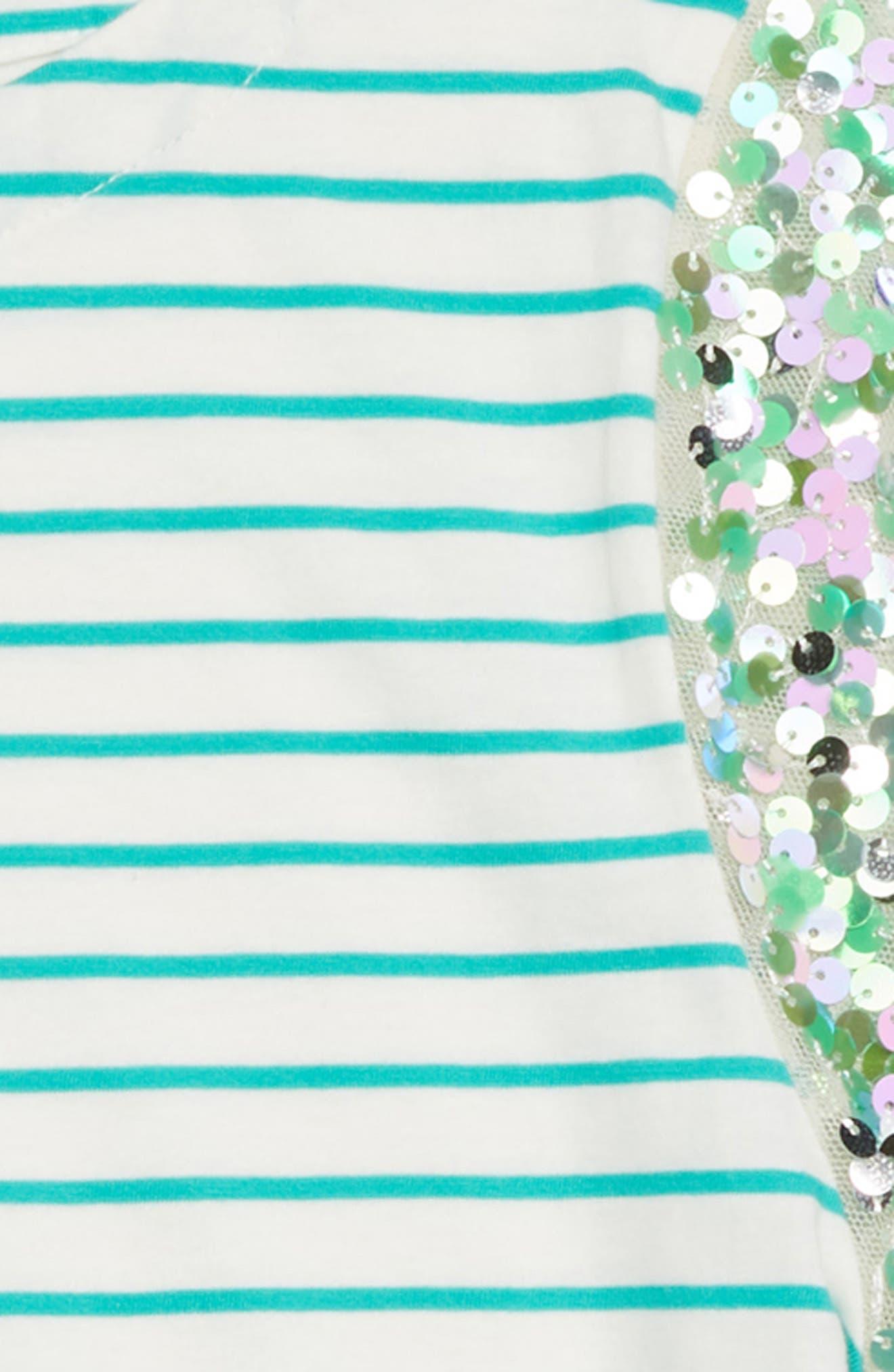 Stripe Sequin Sleeve T-Shirt,                             Alternate thumbnail 2, color,                             CASTLE ROCK