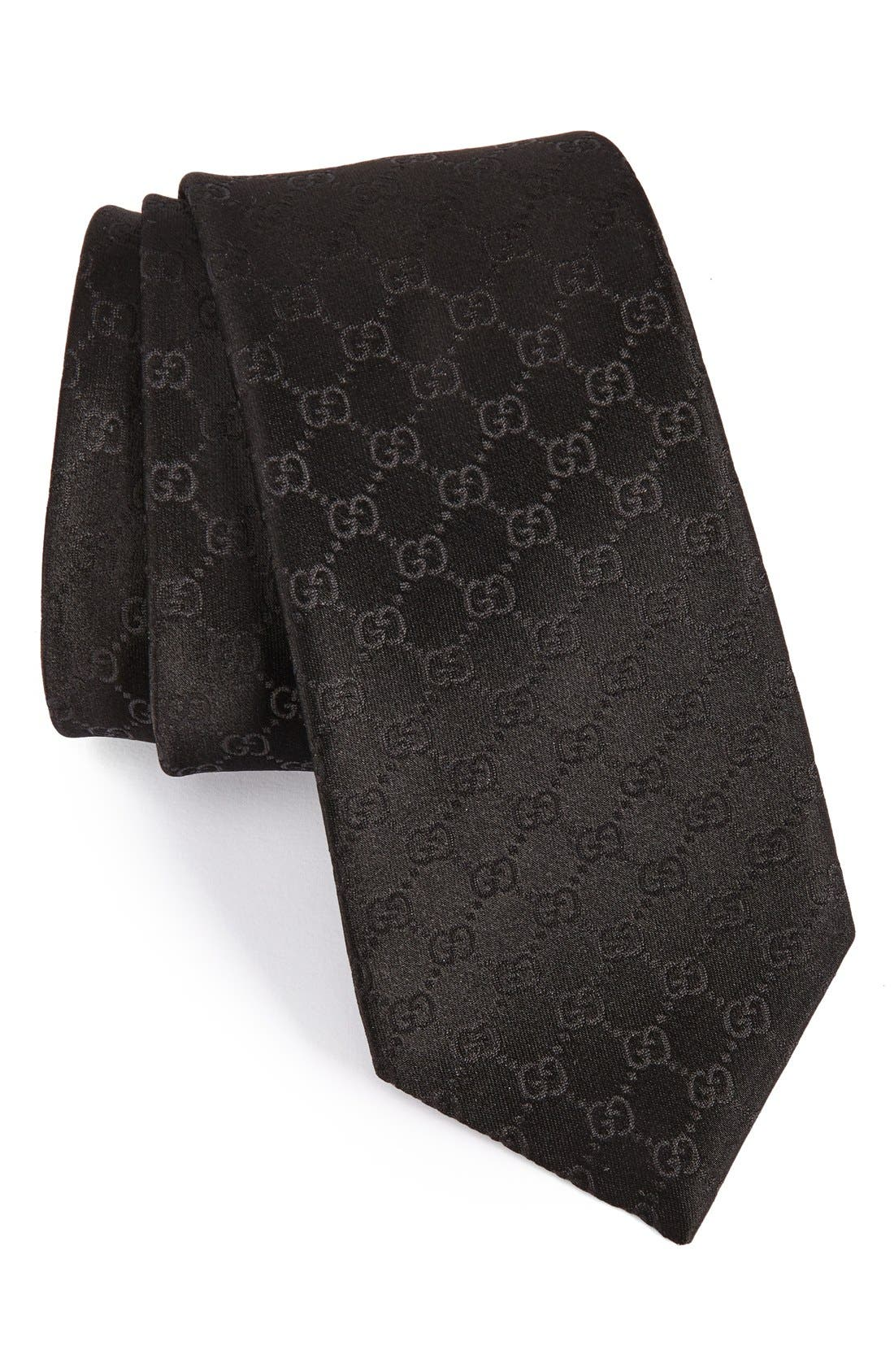 Federa Silk Jacquard Tie,                             Main thumbnail 1, color,                             001