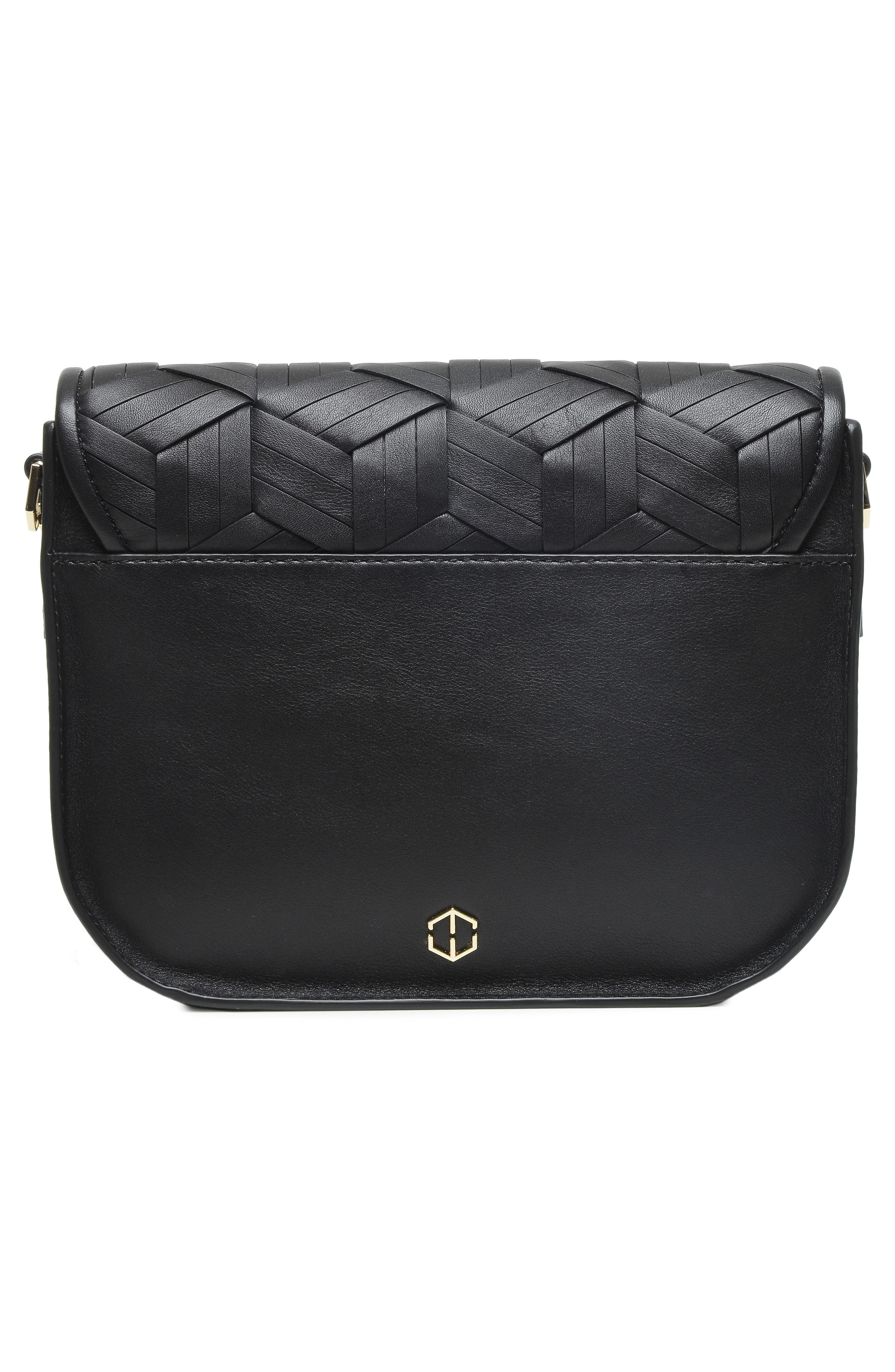 Summit Leather Crossbody Bag,                             Alternate thumbnail 3, color,                             BLACK