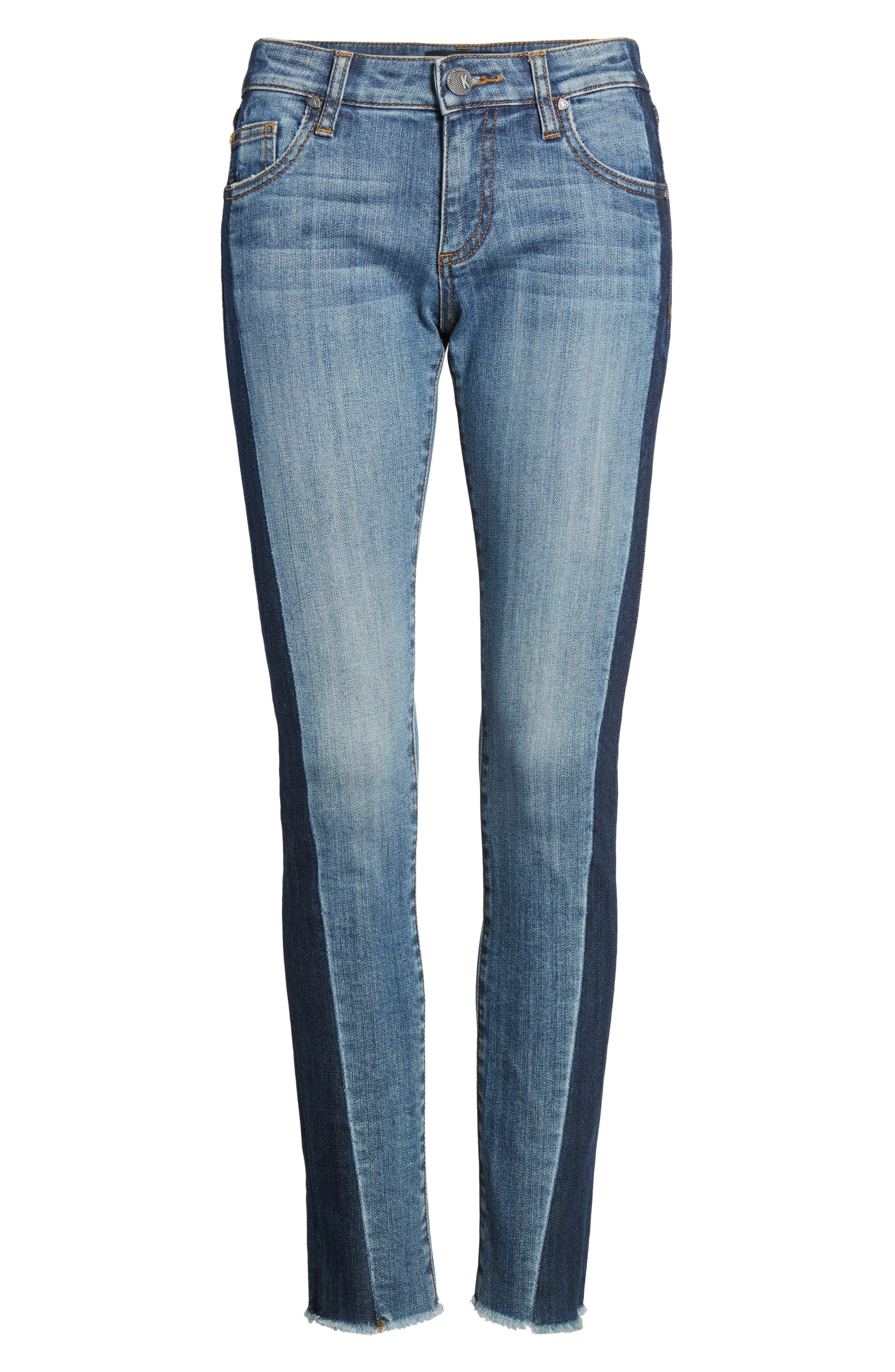 Reese Patch Jeans,                             Alternate thumbnail 7, color,                             460