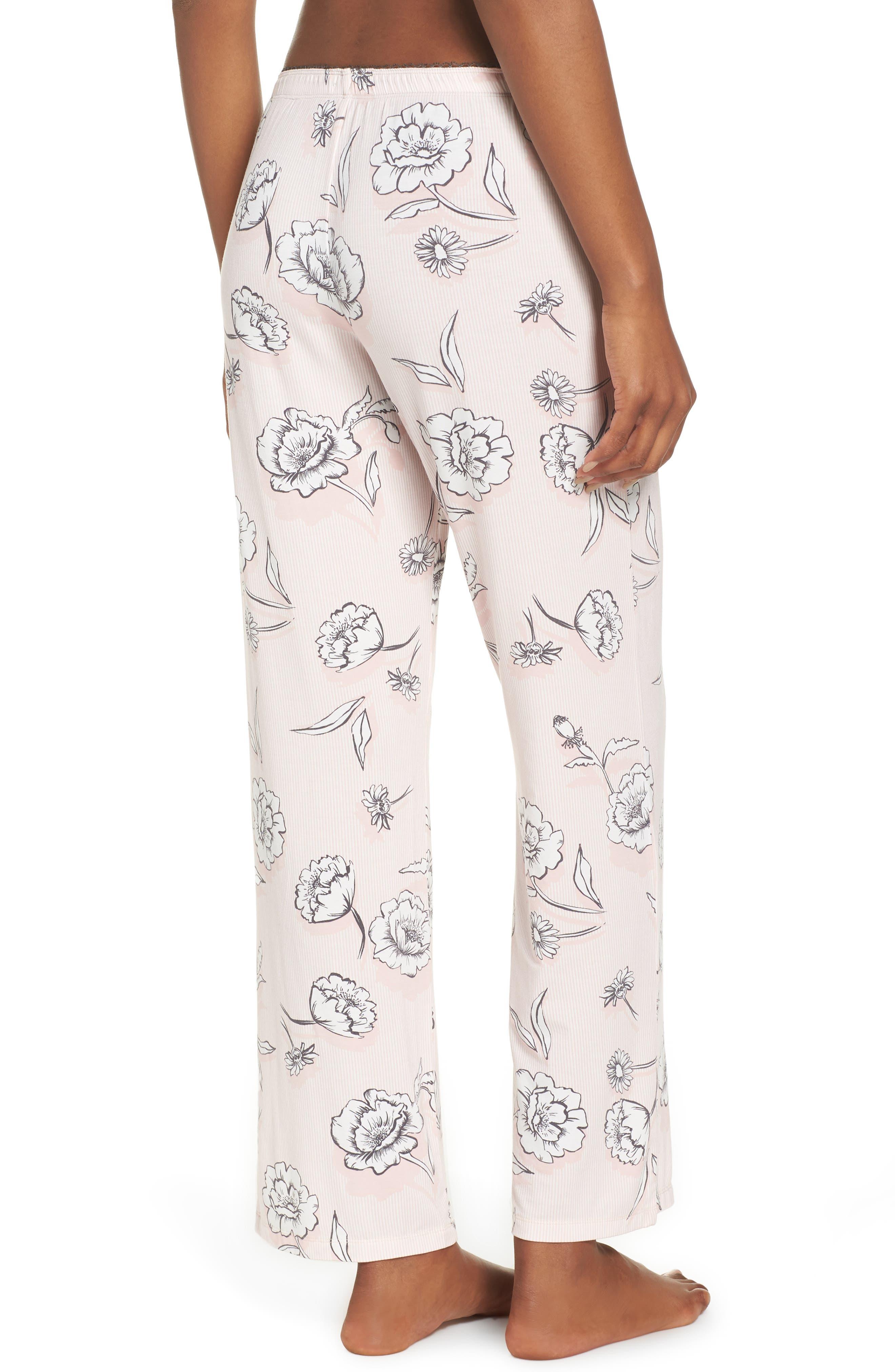 Floral Pajama Pants,                             Alternate thumbnail 2, color,                             650