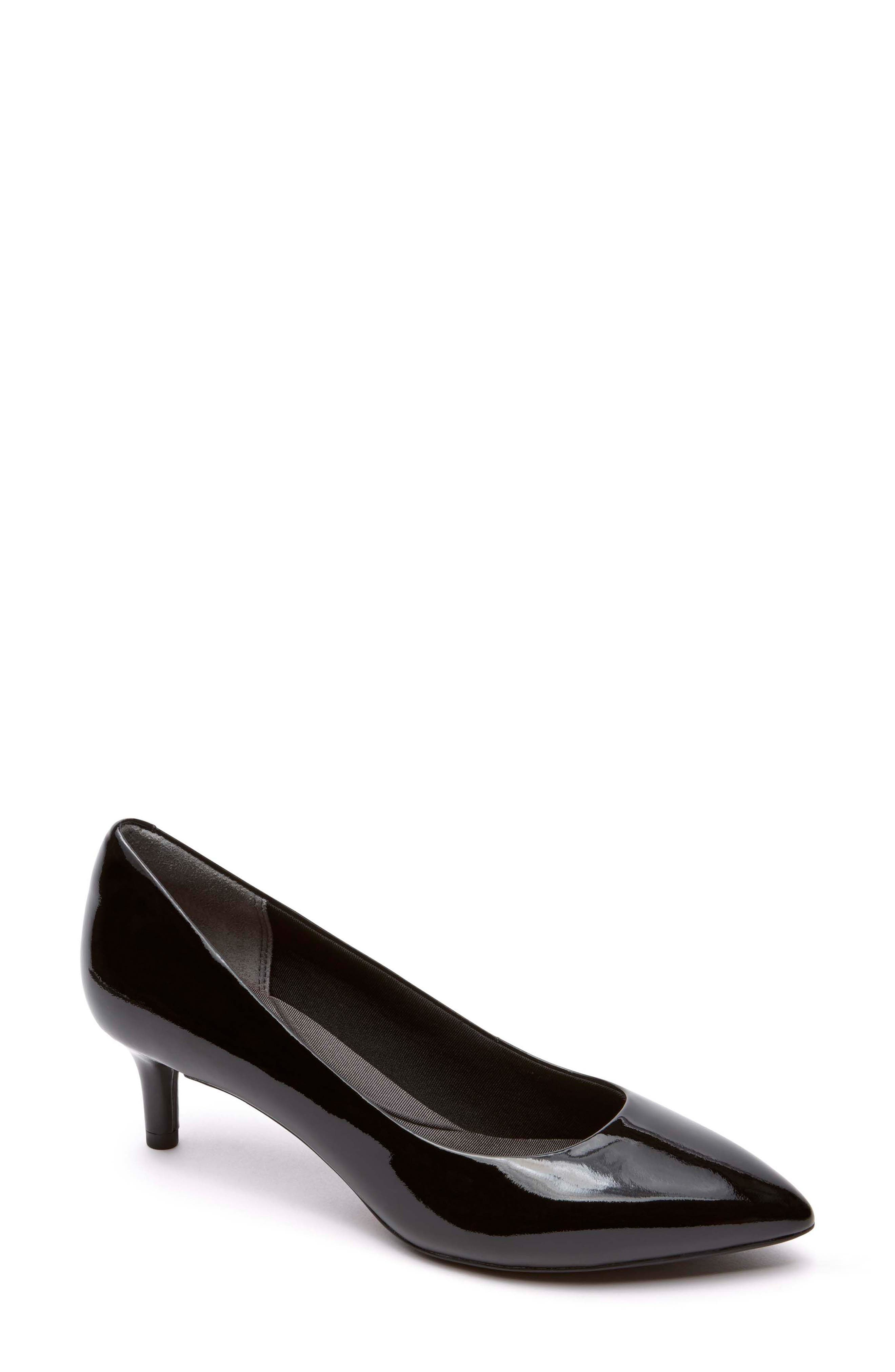 Kalila Luxe Pump,                         Main,                         color, BLACK PATENT LEATHER