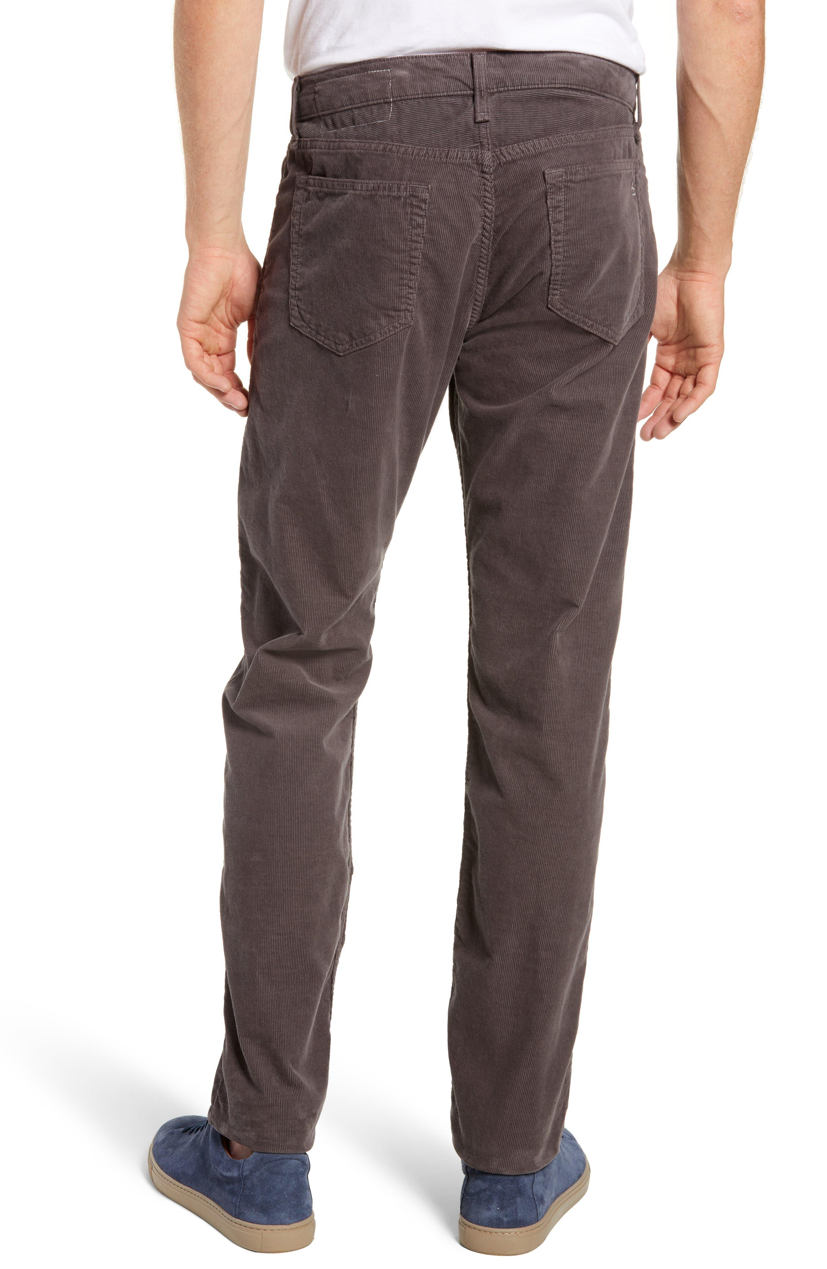 Slim Fit Corduroy Pants,                             Alternate thumbnail 2, color,                             CHARCOAL