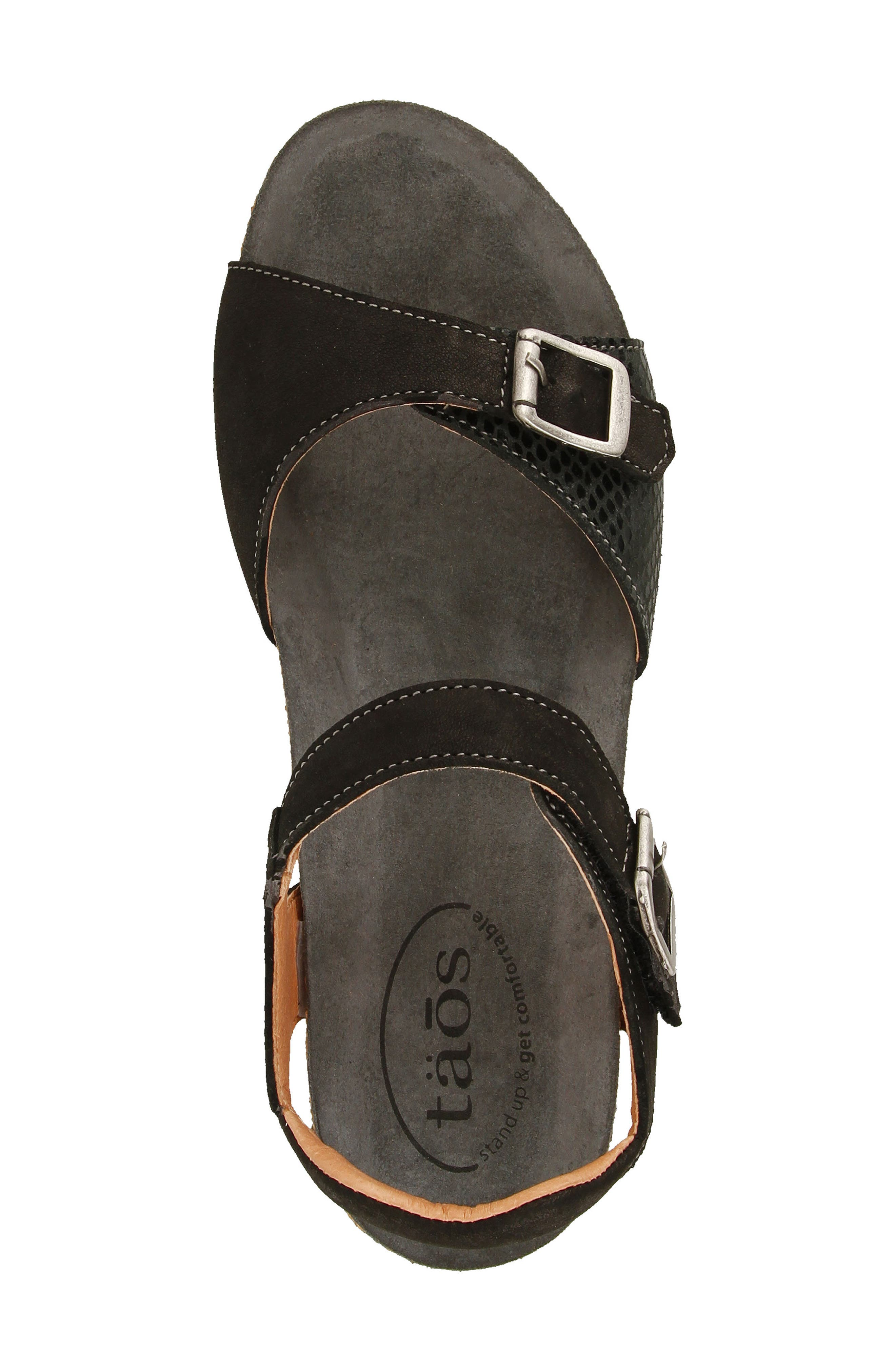 Traveler Wedge Sandal,                             Alternate thumbnail 4, color,                             002