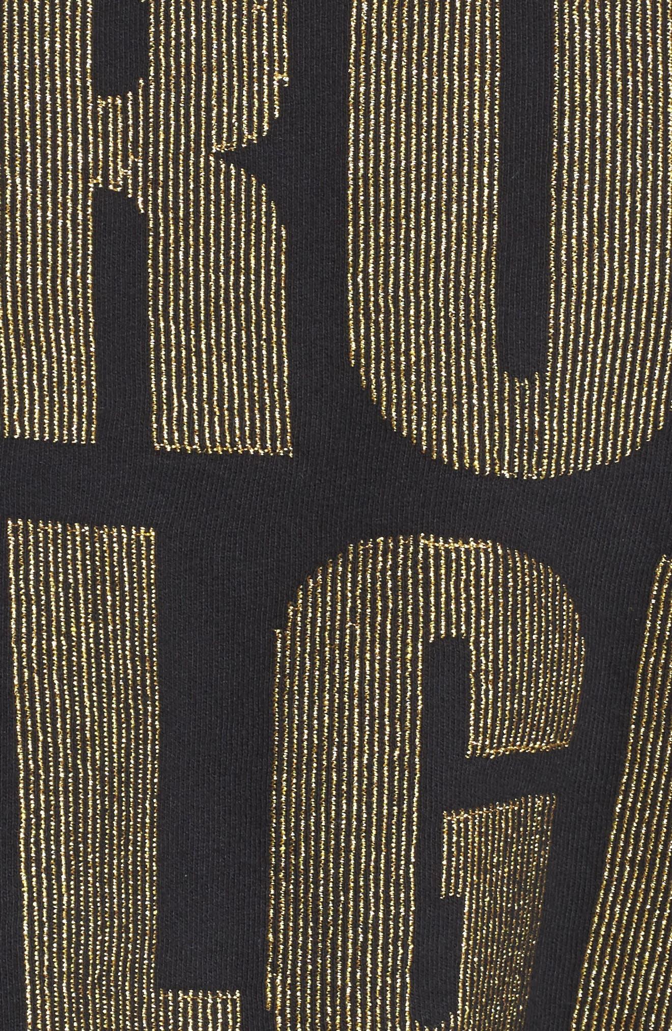 Cold Shoulder Crop Sweatshirt,                             Alternate thumbnail 5, color,                             001