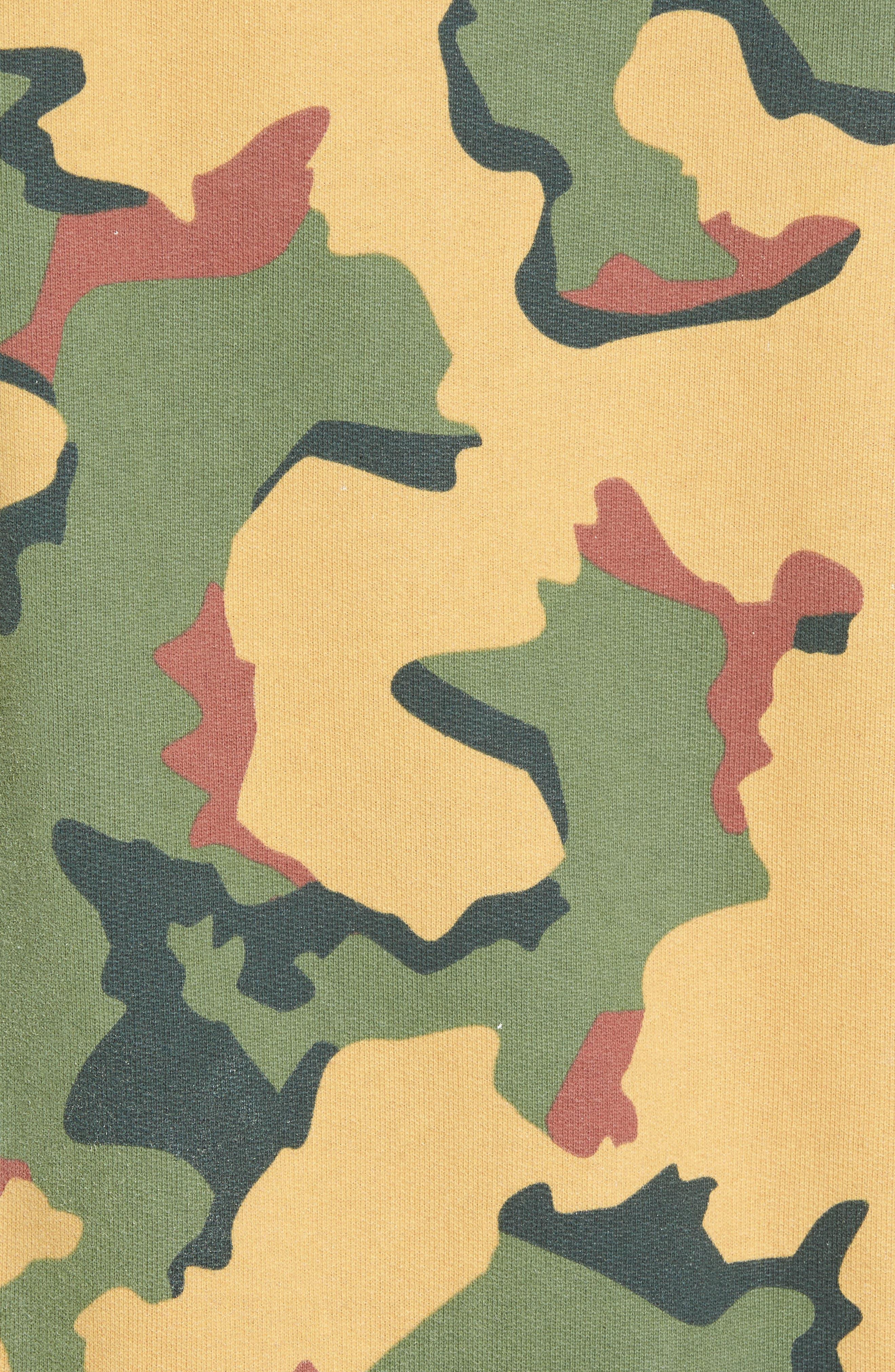 Anatole Camo Fleece Sweatshirt,                             Alternate thumbnail 5, color,