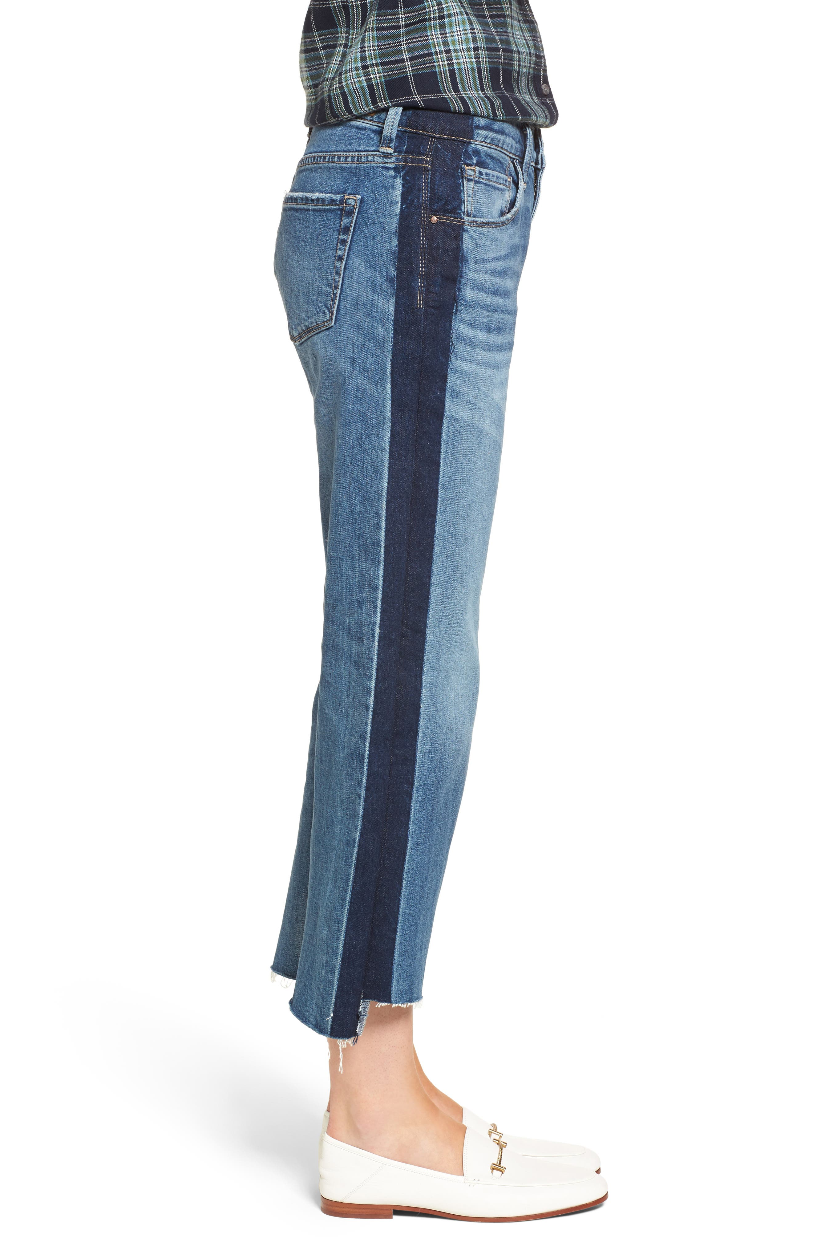 Shelter Wide Leg Crop Jeans,                             Alternate thumbnail 3, color,