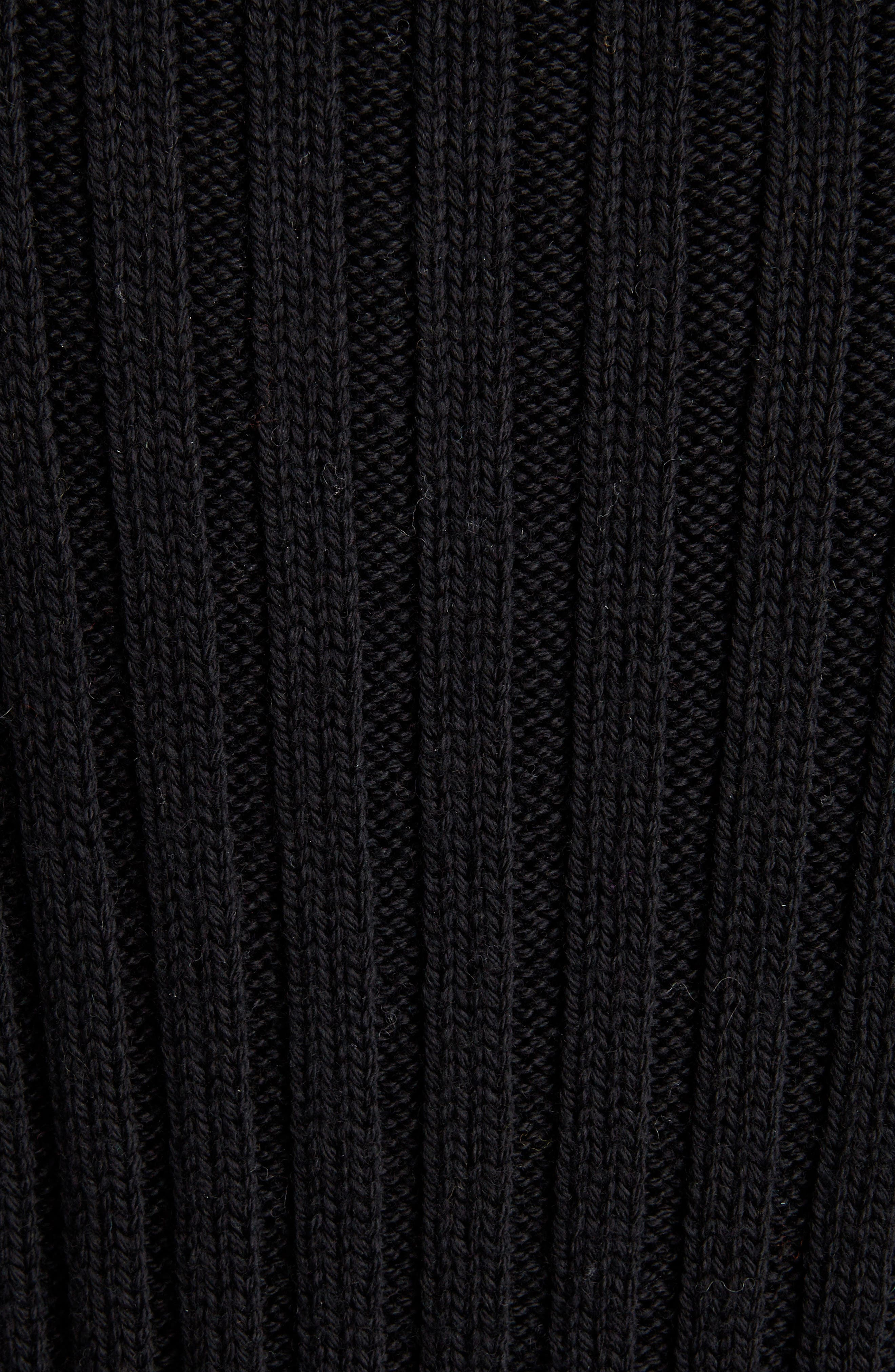 DRIES VAN NOTEN,                             Turtleneck Wool Sweater,                             Alternate thumbnail 5, color,                             BLACK