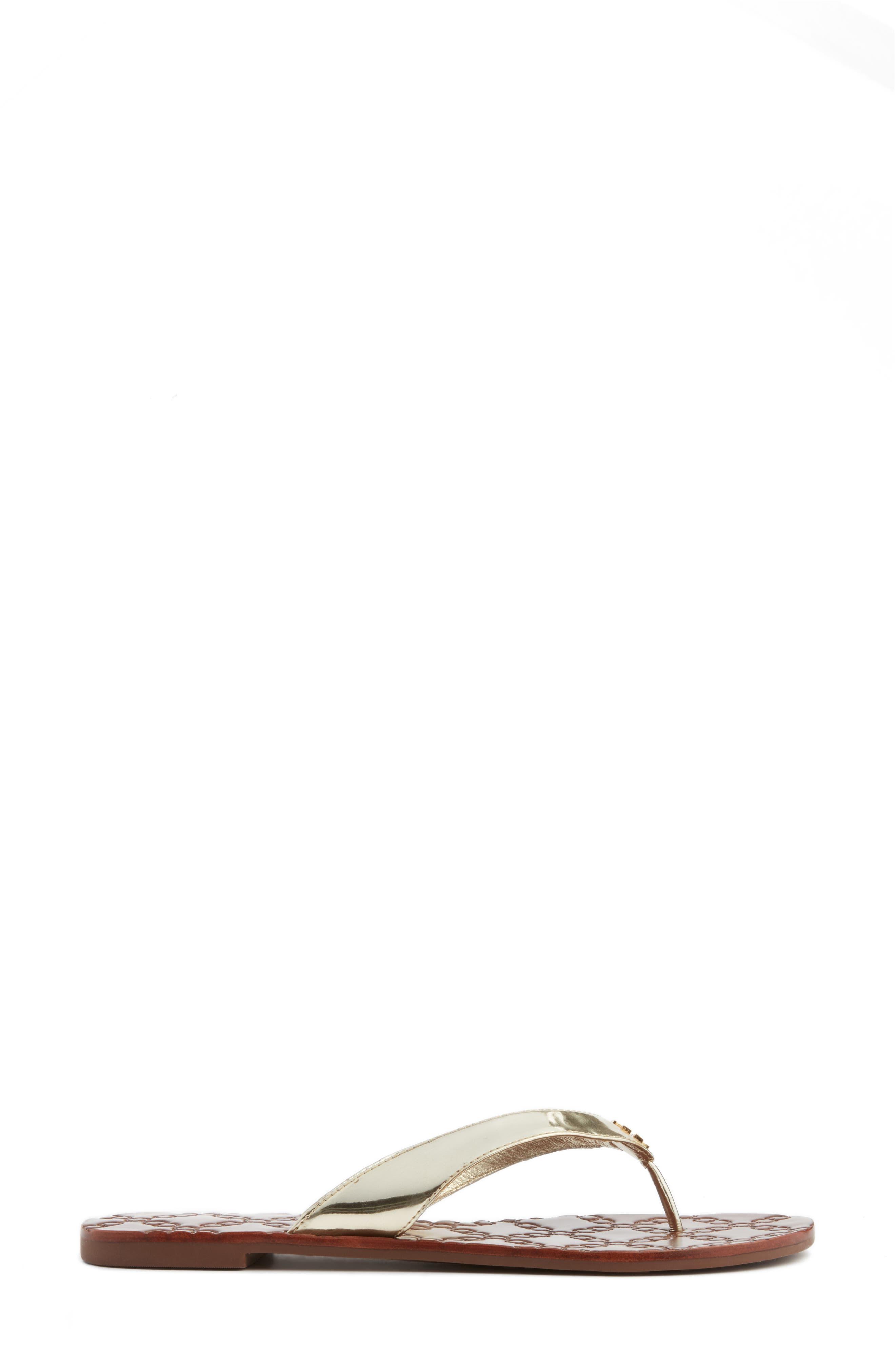 Monroe Flip Flop,                             Alternate thumbnail 3, color,                             GOLD