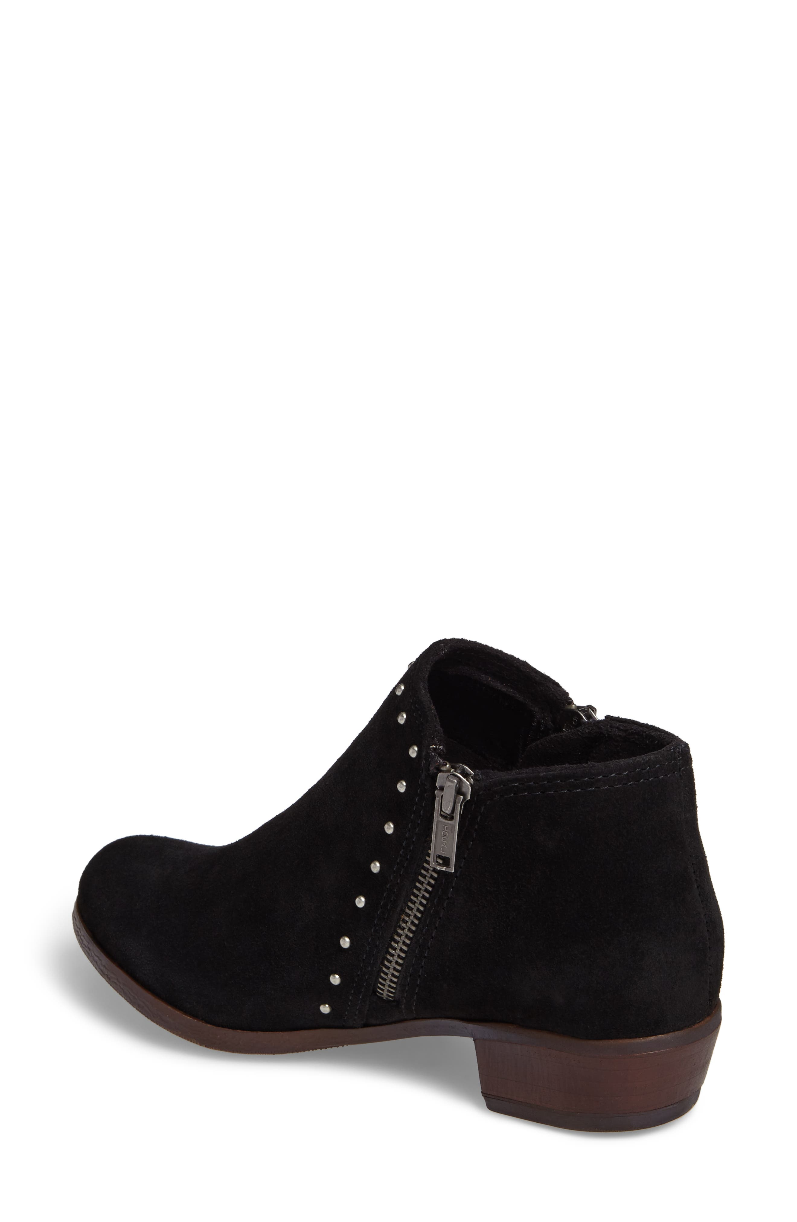 Brie Studded Bootie,                             Alternate thumbnail 2, color,                             BLACK