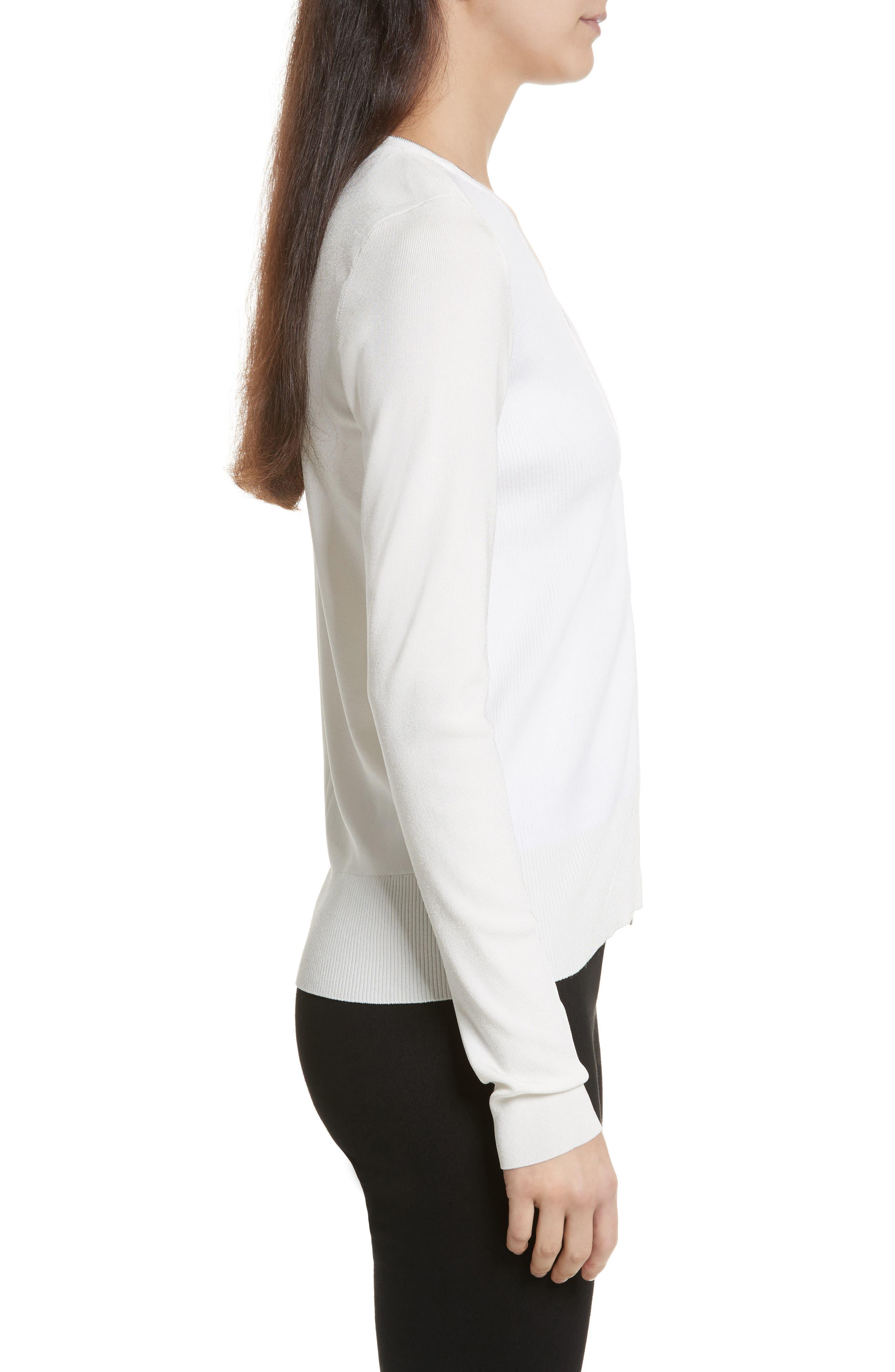 Vivienne Front Zip Sweater,                             Alternate thumbnail 3, color,                             900