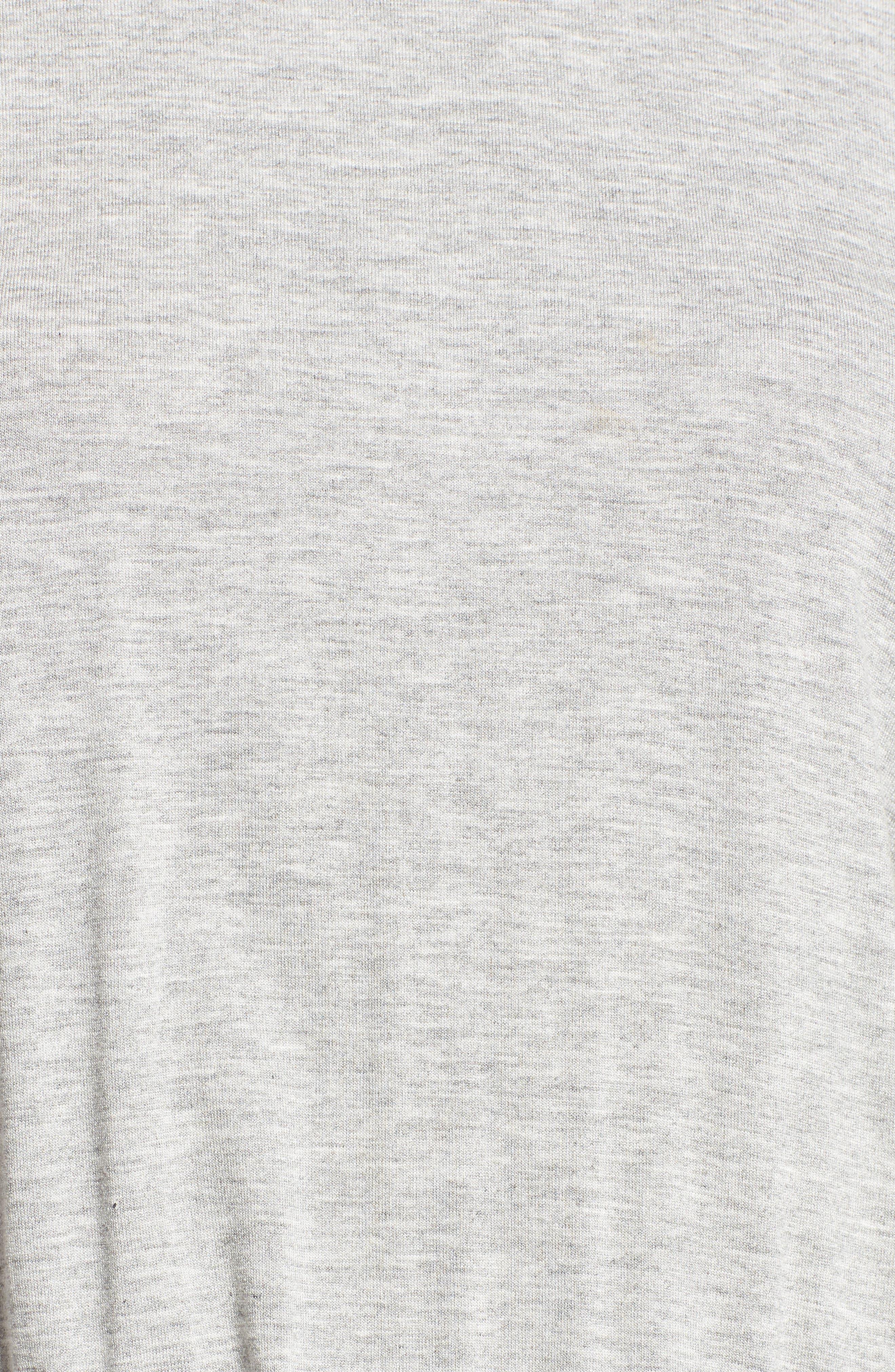 Open Back T-Shirt Dress,                             Alternate thumbnail 6, color,                             HEATHER GREY