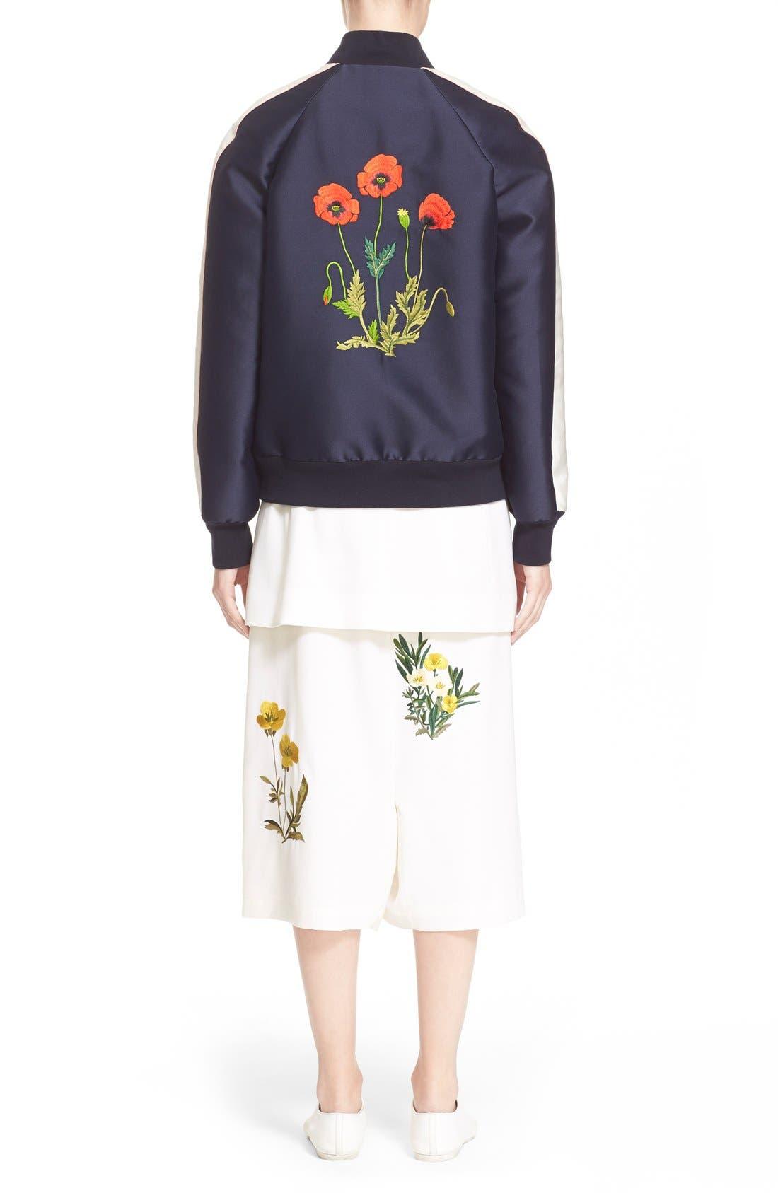 'Lorinda' Floral Embroidered Bomber Jacket,                             Alternate thumbnail 6, color,                             009