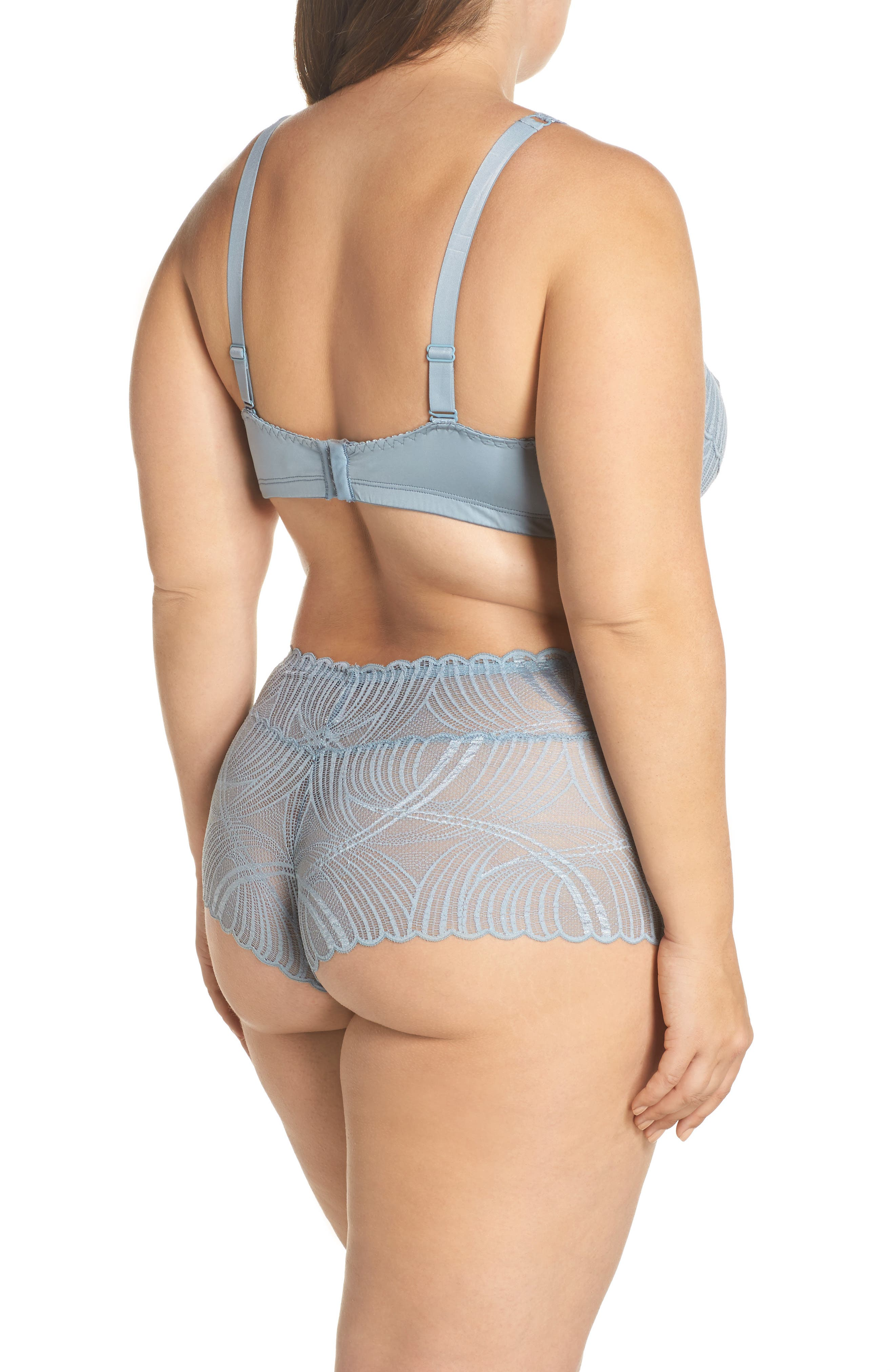 Minoa Naughtie Open Gusset Boyshorts,                             Alternate thumbnail 24, color,