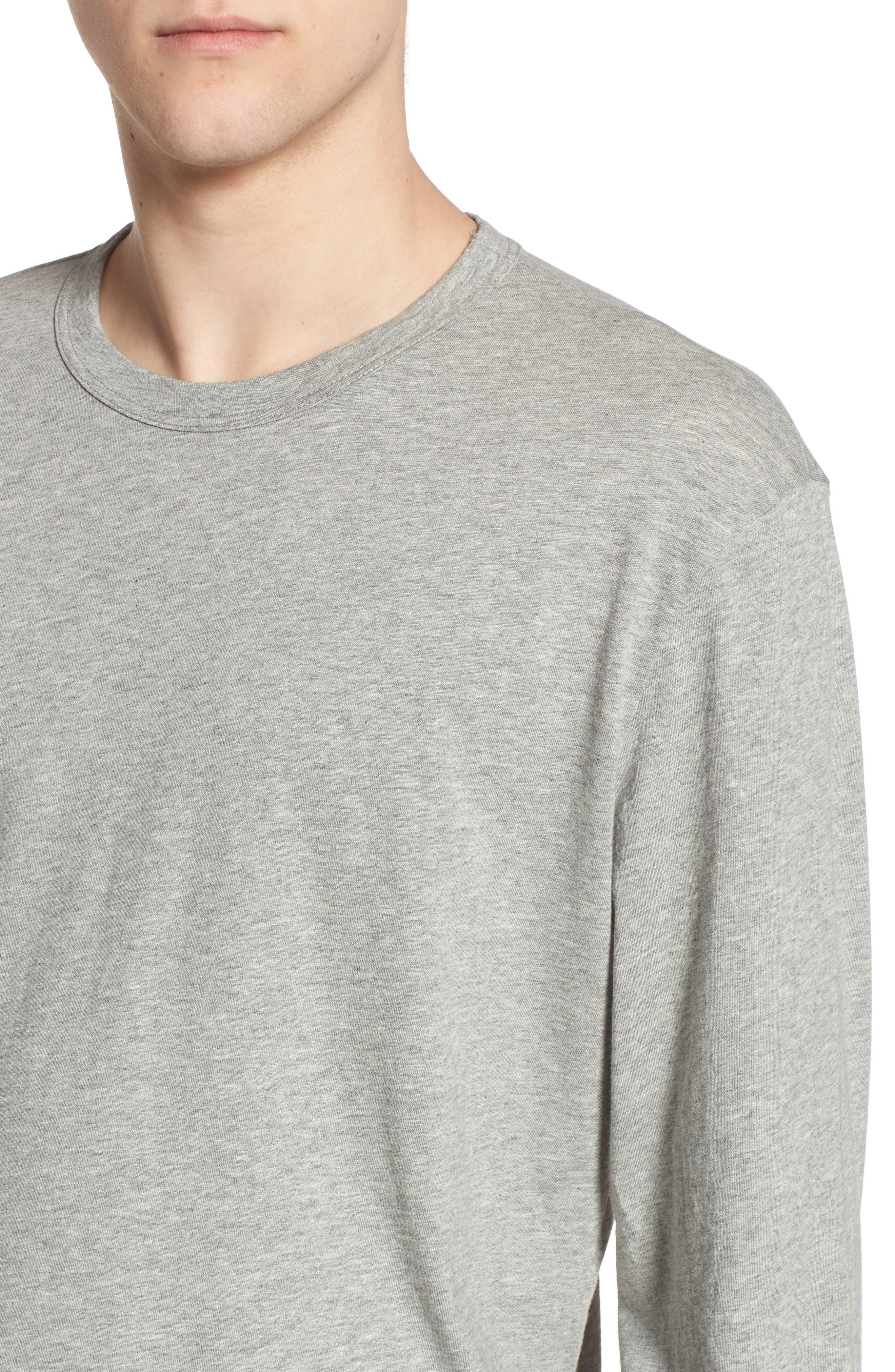 Crewneck Cotton Sweatshirt,                             Alternate thumbnail 4, color,