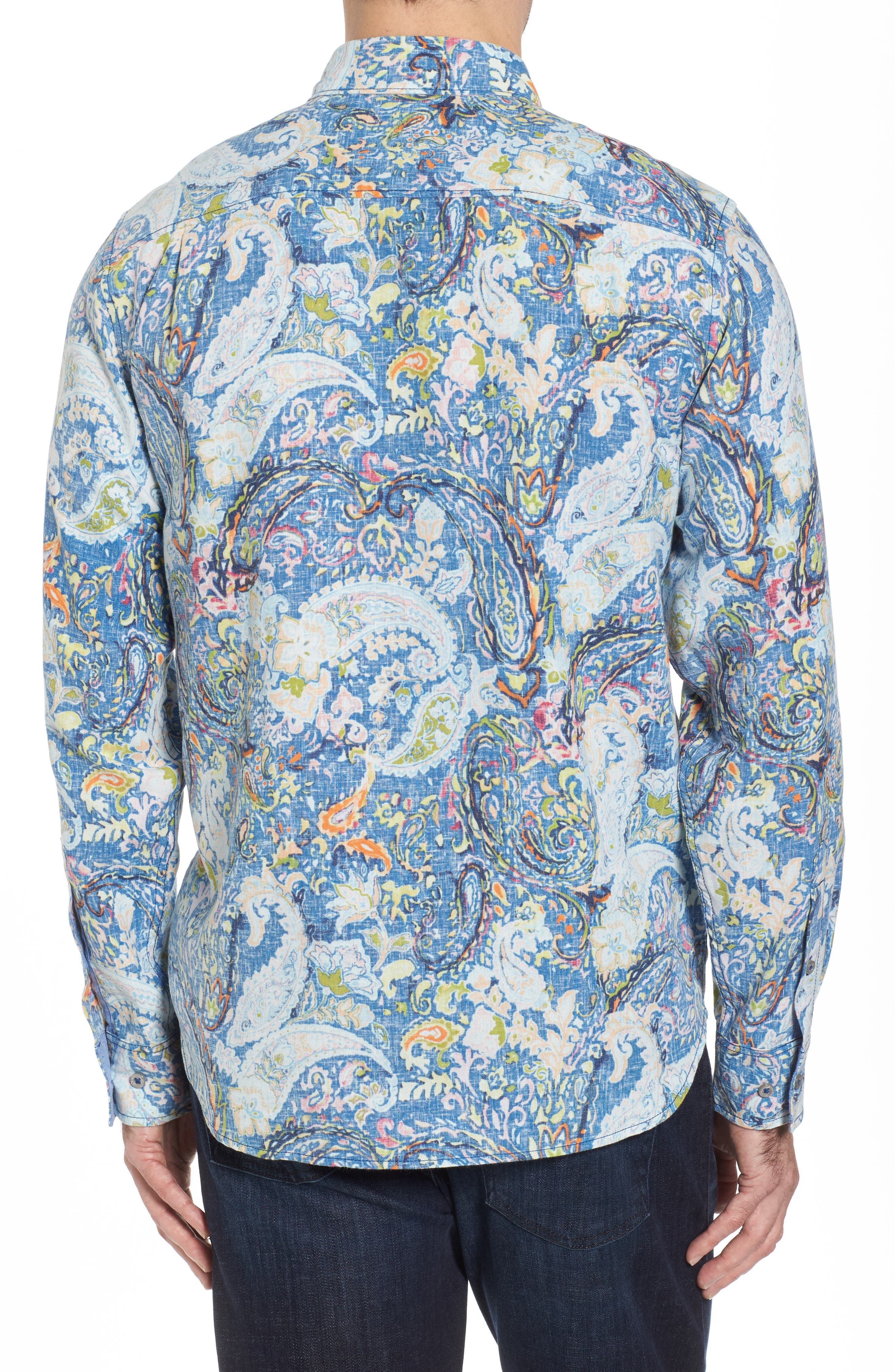 Paisley Promenade Sport Shirt,                             Alternate thumbnail 2, color,                             400