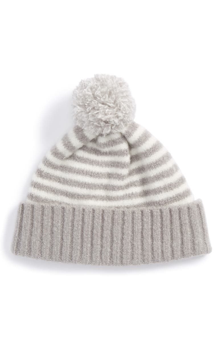 37fdd6dda2a Tucker + Tate Stripe Pompom Hat (Baby Girls   Toddler Girls)