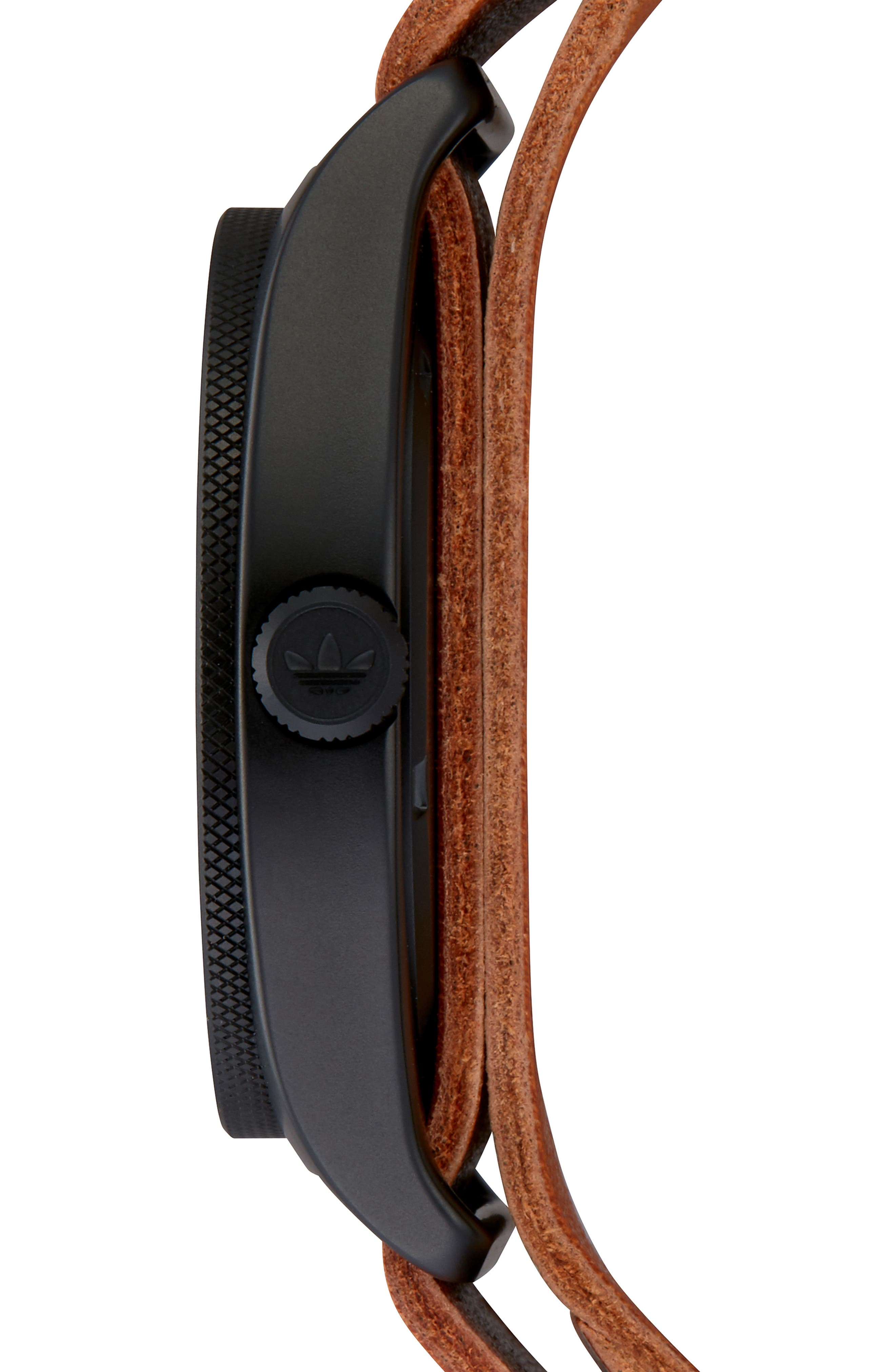 Process Interchangeable Strap Watch, 40mm,                             Alternate thumbnail 9, color,                             BLACK/ TAN