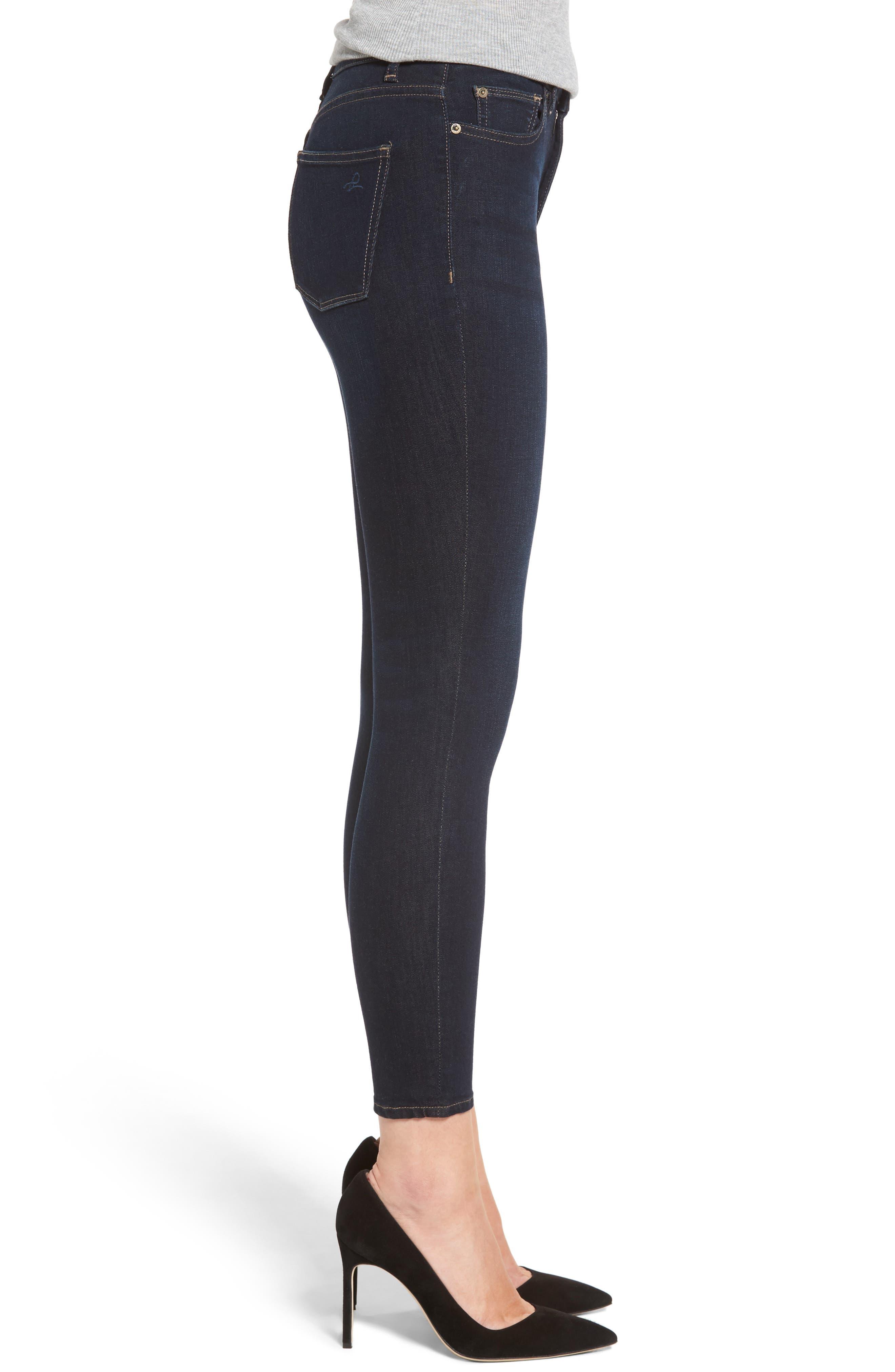Chrissy High Waist Ankle Skinny Jeans,                             Alternate thumbnail 3, color,                             405