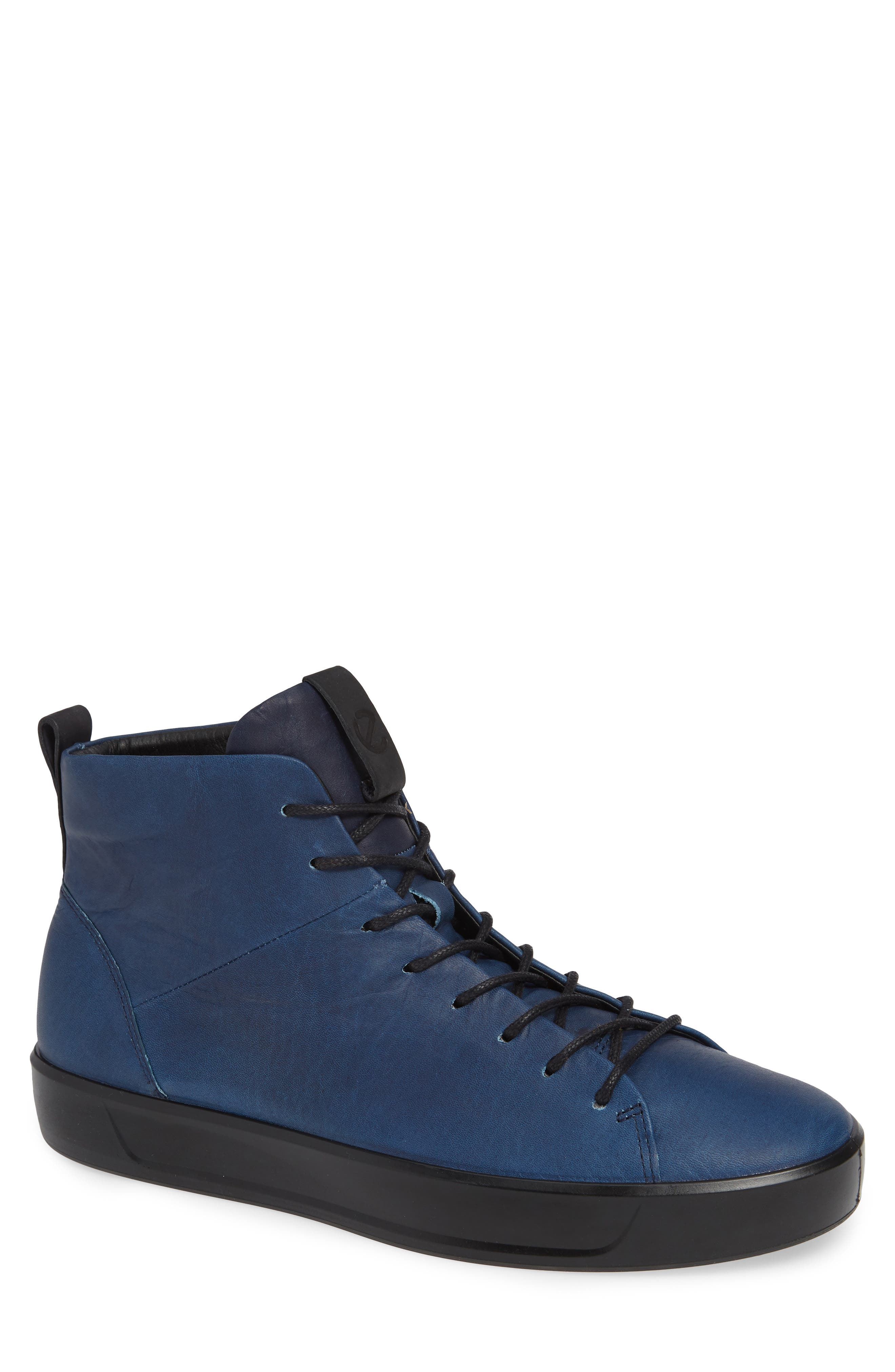 Soft 8 Sneaker,                         Main,                         color, INDIGO LEATHER