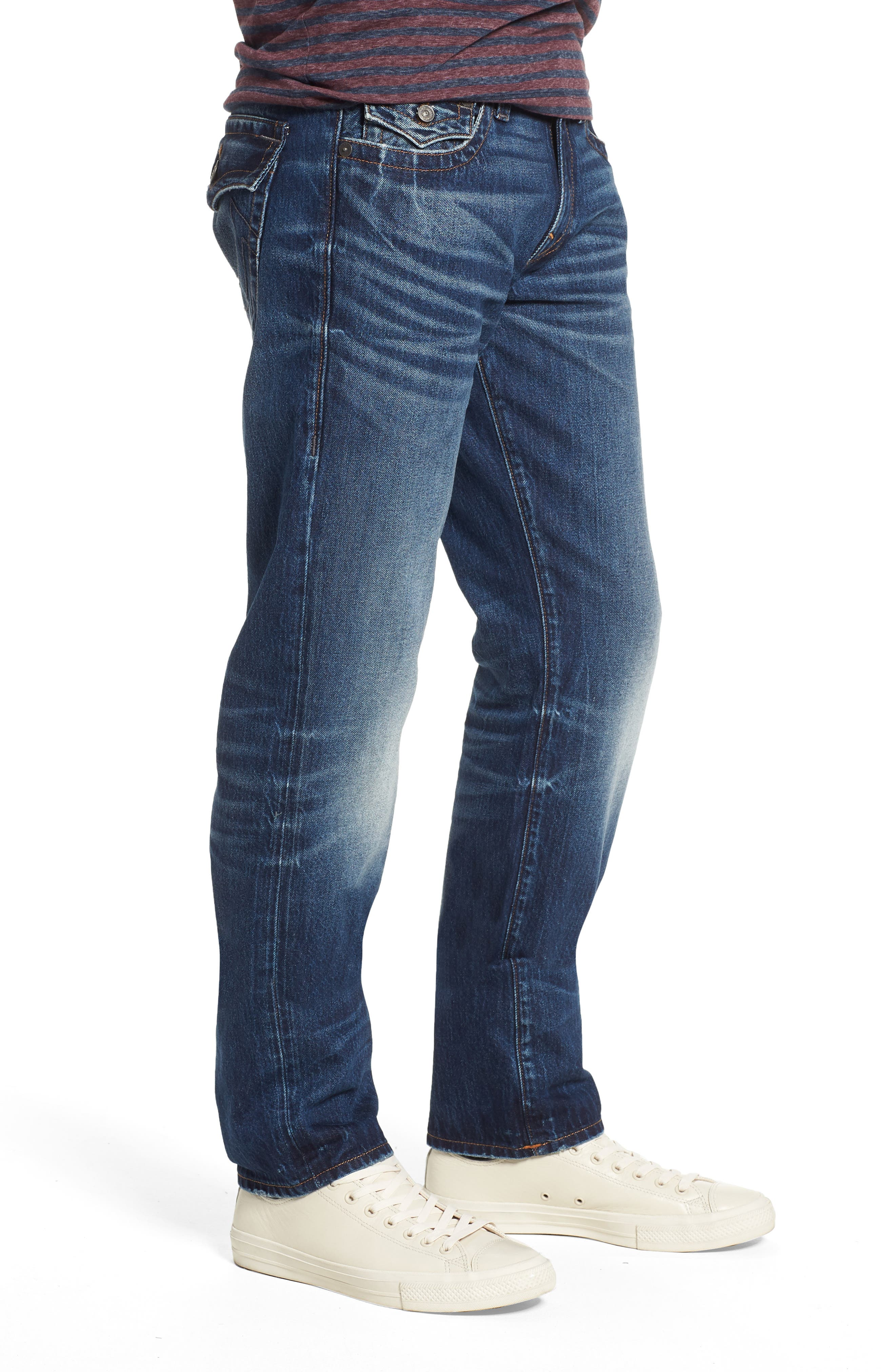 Geno Straight Leg Jeans,                             Alternate thumbnail 3, color,                             EQSD DARK AFTER HOURS