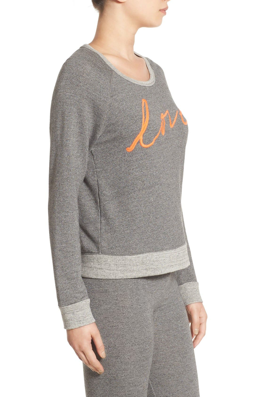 'Love' Pullover Sweatshirt,                             Alternate thumbnail 6, color,                             039