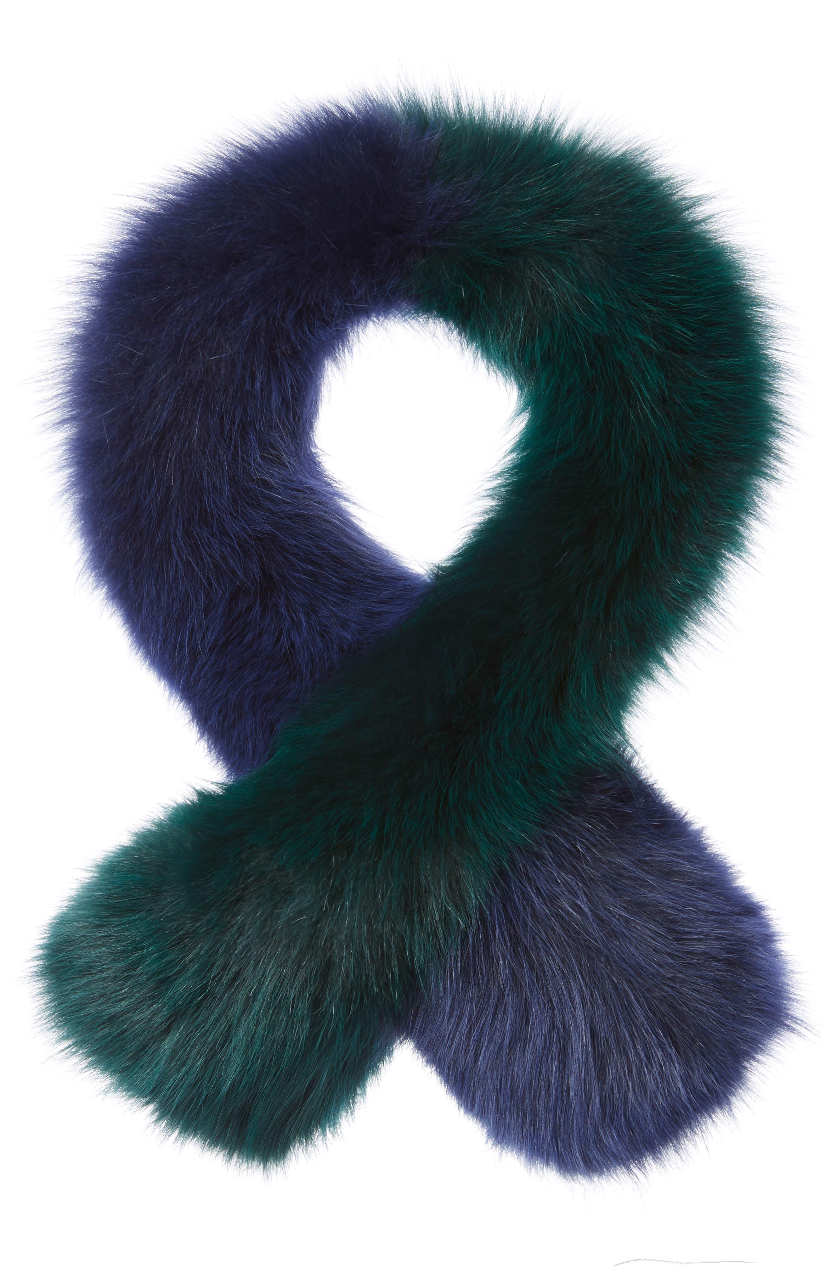 Polly Pop Genuine Fox Fur Scarf,                             Main thumbnail 1, color,                             440