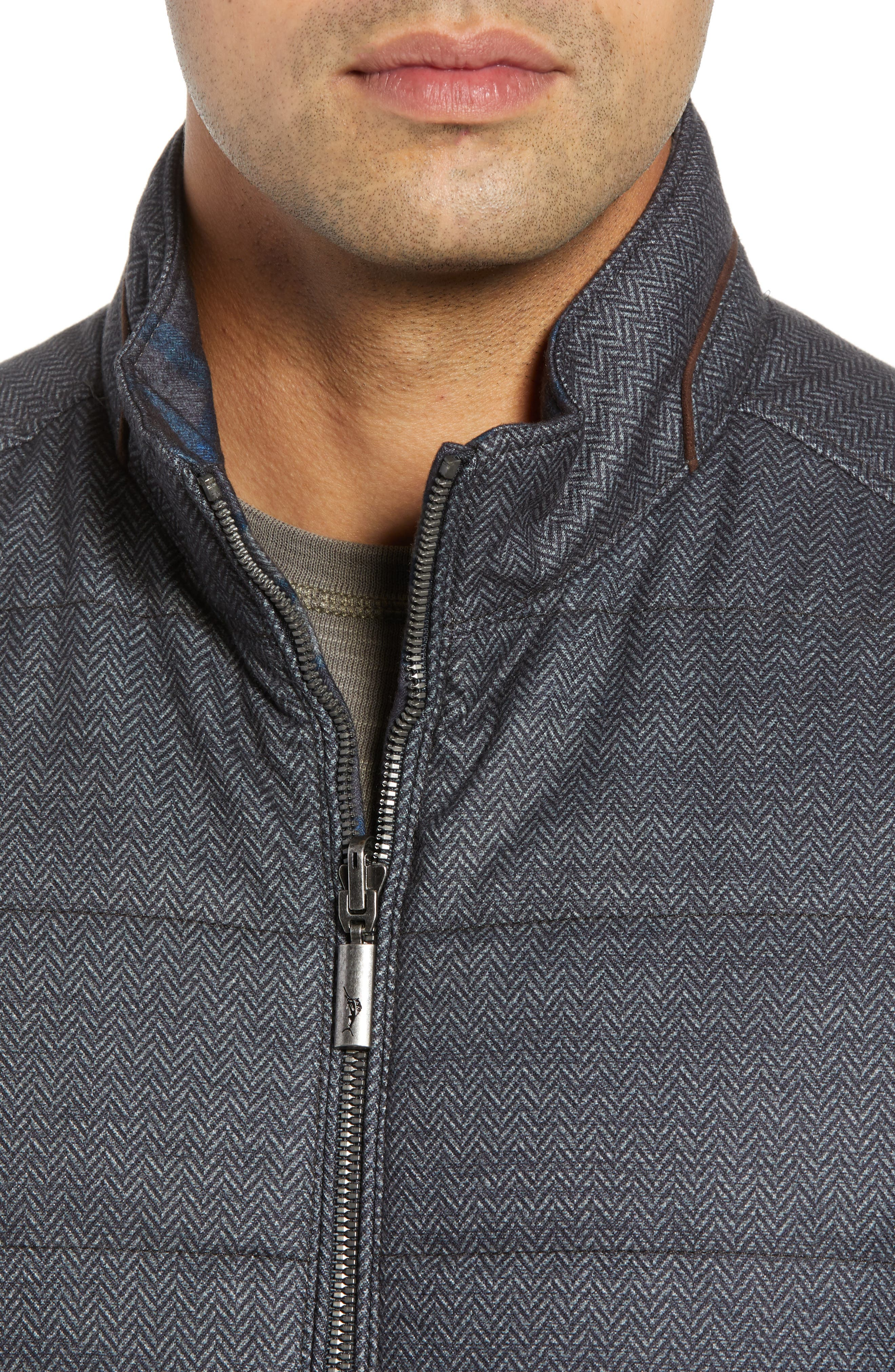 Dublin Duo Reversible Quilted Vest,                             Alternate thumbnail 5, color,                             SHADOW