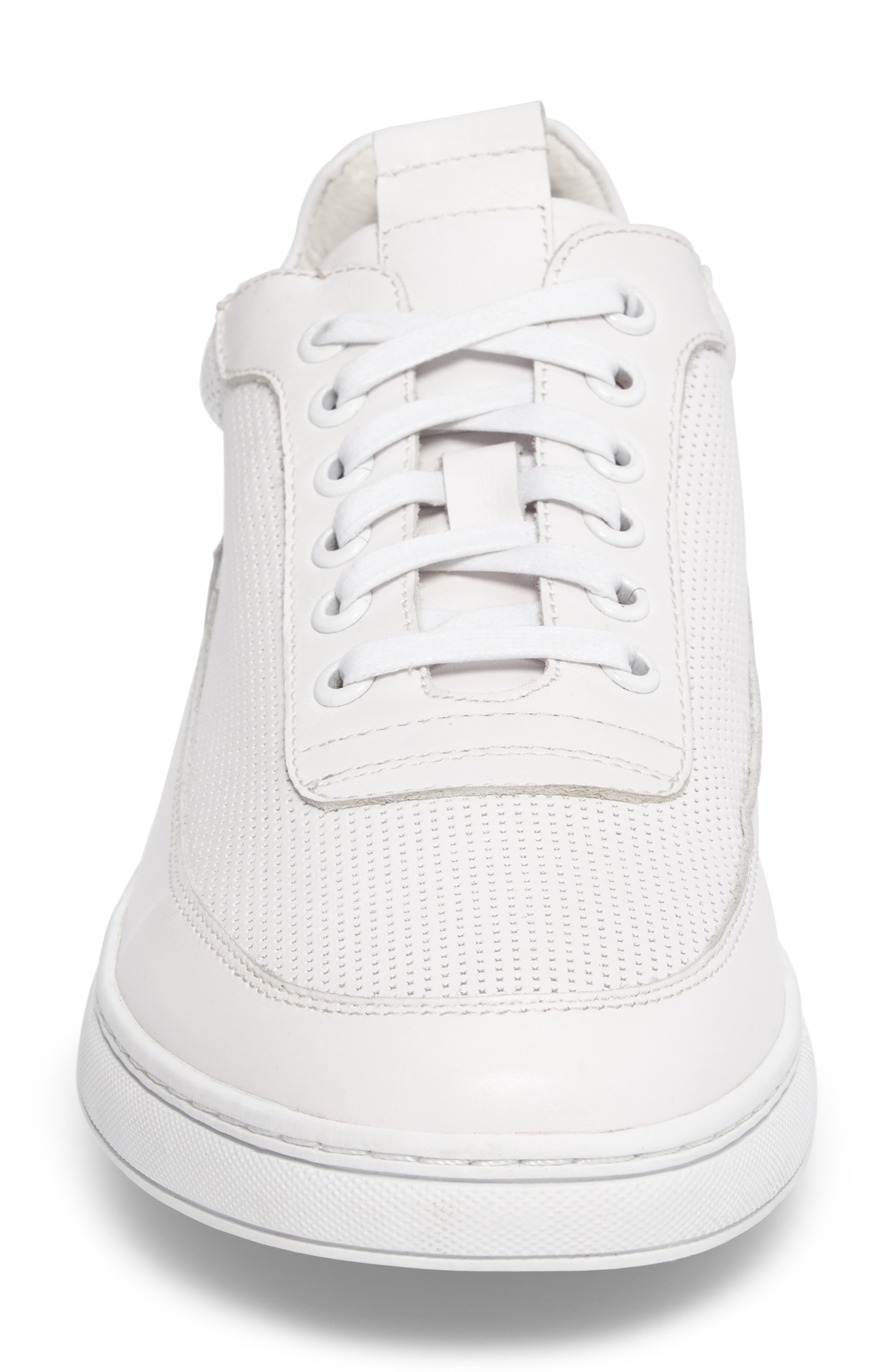 Harmony Sneaker,                             Alternate thumbnail 4, color,                             WHITE LEATHER