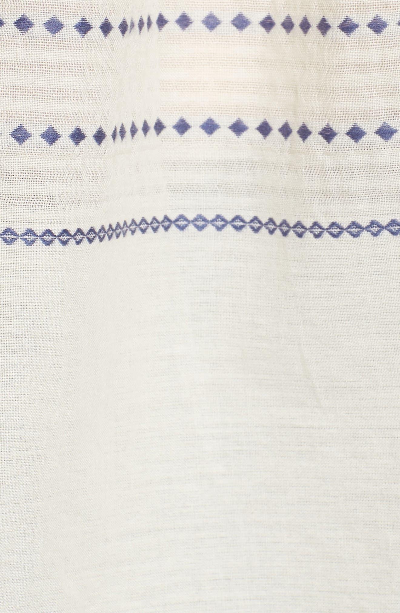 Paros Embroidered Cotton Peasant Blouse,                             Alternate thumbnail 5, color,                             906